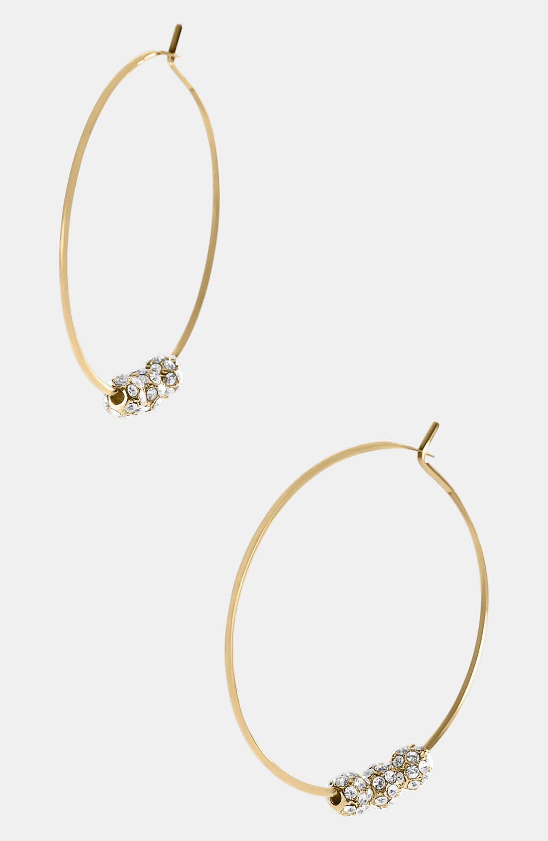 Main Image - Michael Kors 'Fireball Whisper' Hoop Earrings