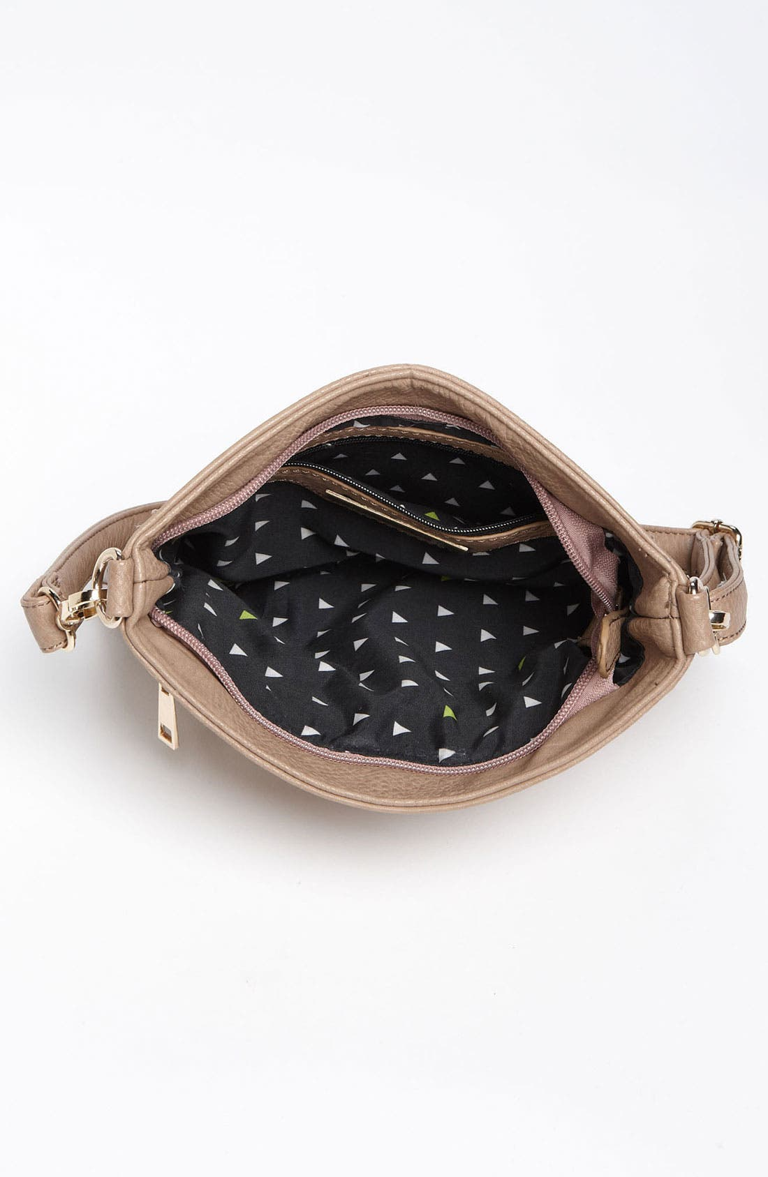 Studded Convertible Crossbody Bag,                             Alternate thumbnail 3, color,                             Taupe/ Gold