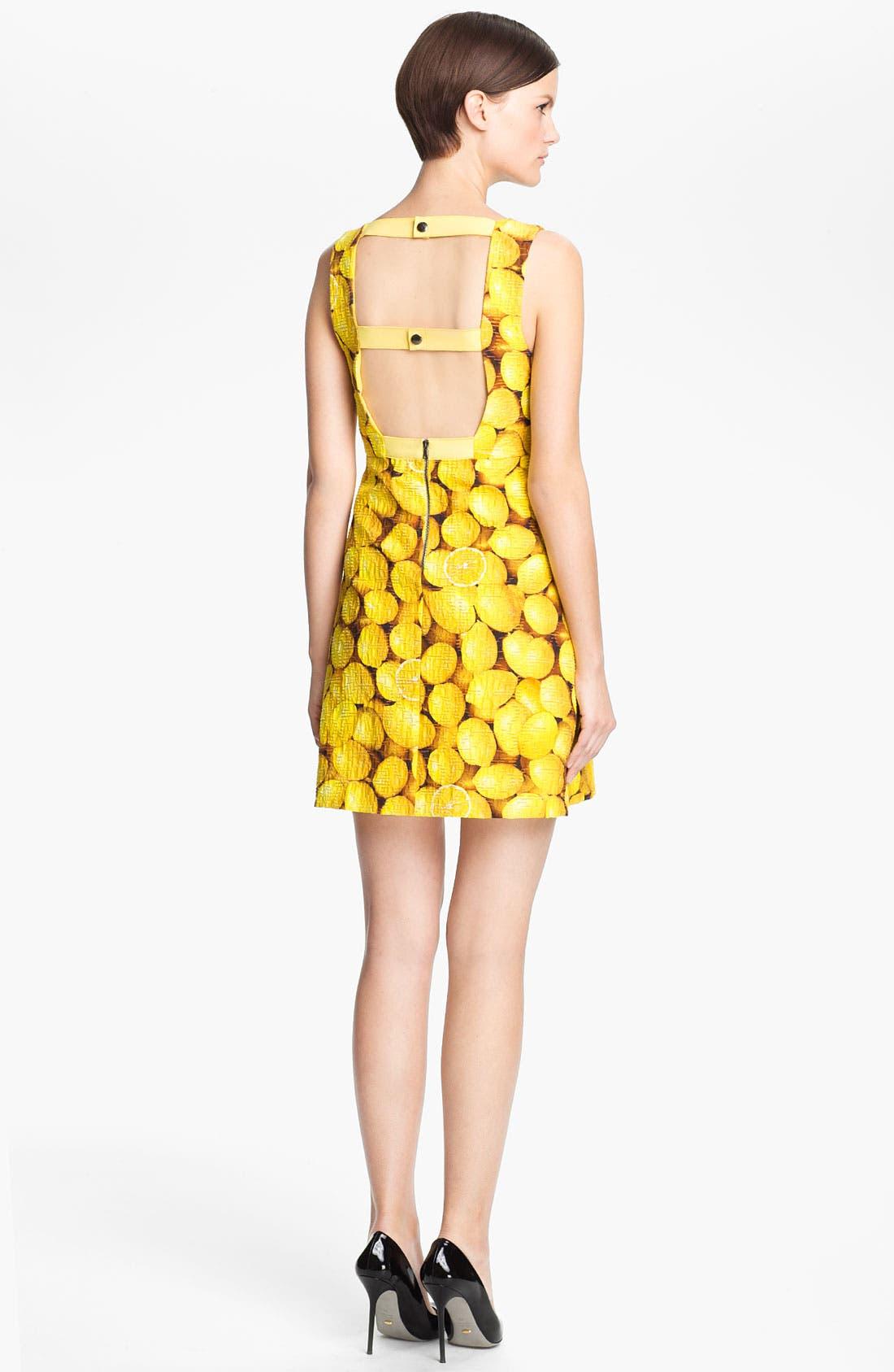 Alternate Image 2  - Alice + Olivia 'Candice' Print A-Line Dress