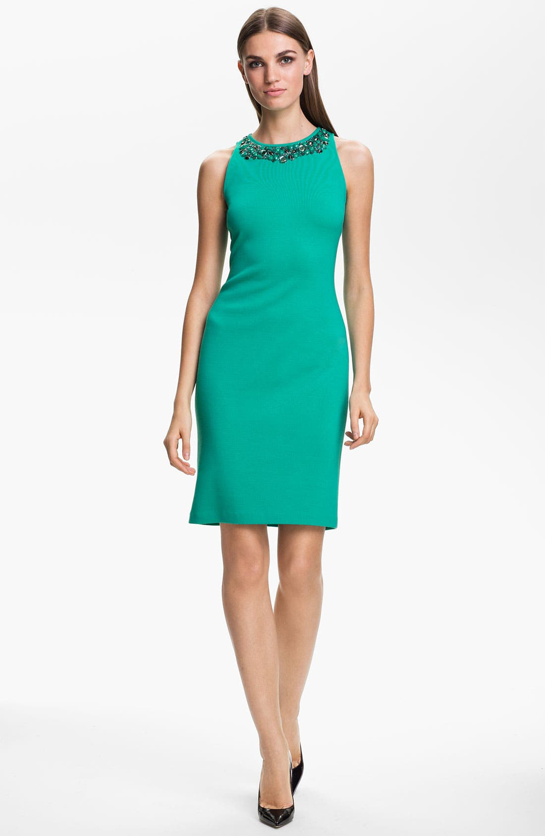 Alternate Image 1 Selected - St. John Collection Bead Embroidered Milano Knit Dress