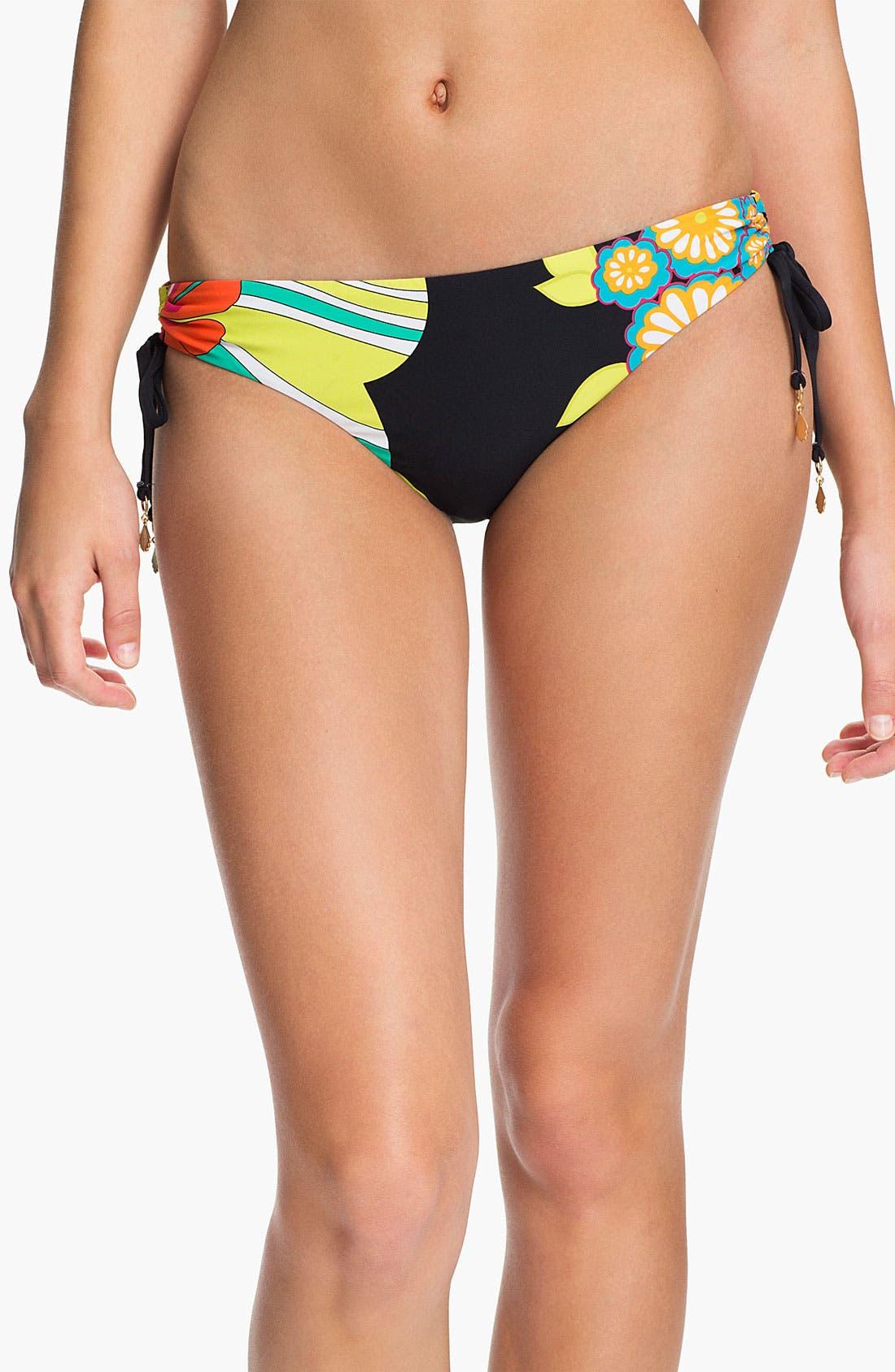 Alternate Image 1 Selected - Trina Turk Shirred Side Hipster Bikini Bottoms