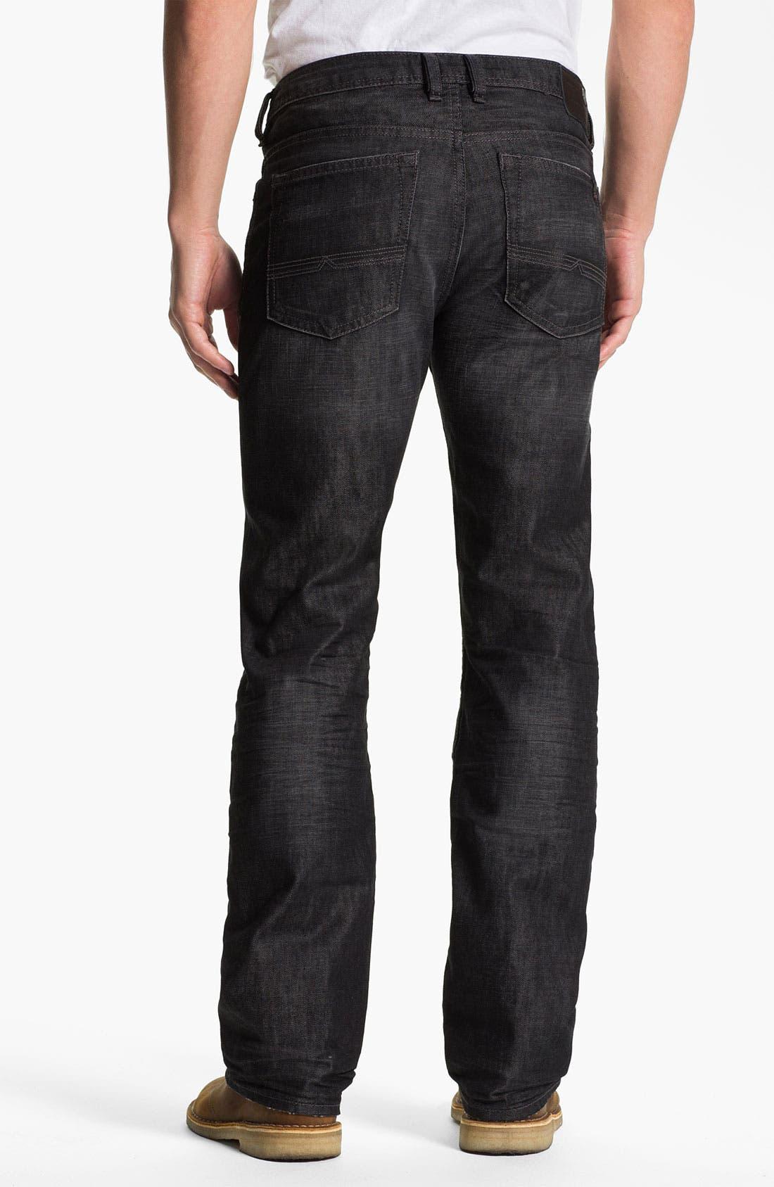 Alternate Image 2  - Buffalo Jeans 'Driven' Straight Leg Jeans (Dark/Washed)