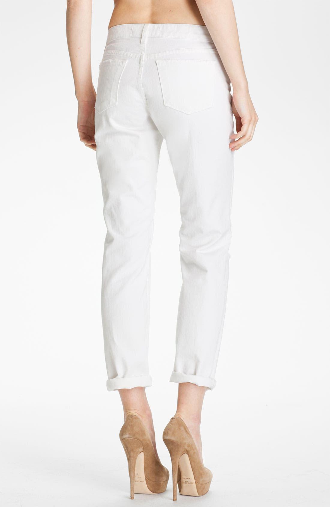 Alternate Image 2  - J Brand 'Aidan' Distressed Boyfriend Fit Jeans (White Destructed)