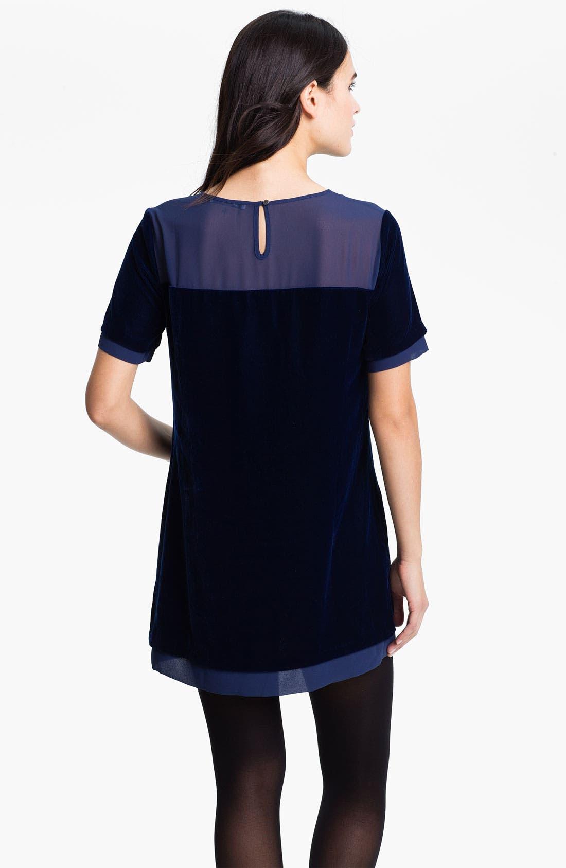 Crewneck Tunic Dress,                             Alternate thumbnail 2, color,                             Night Sky