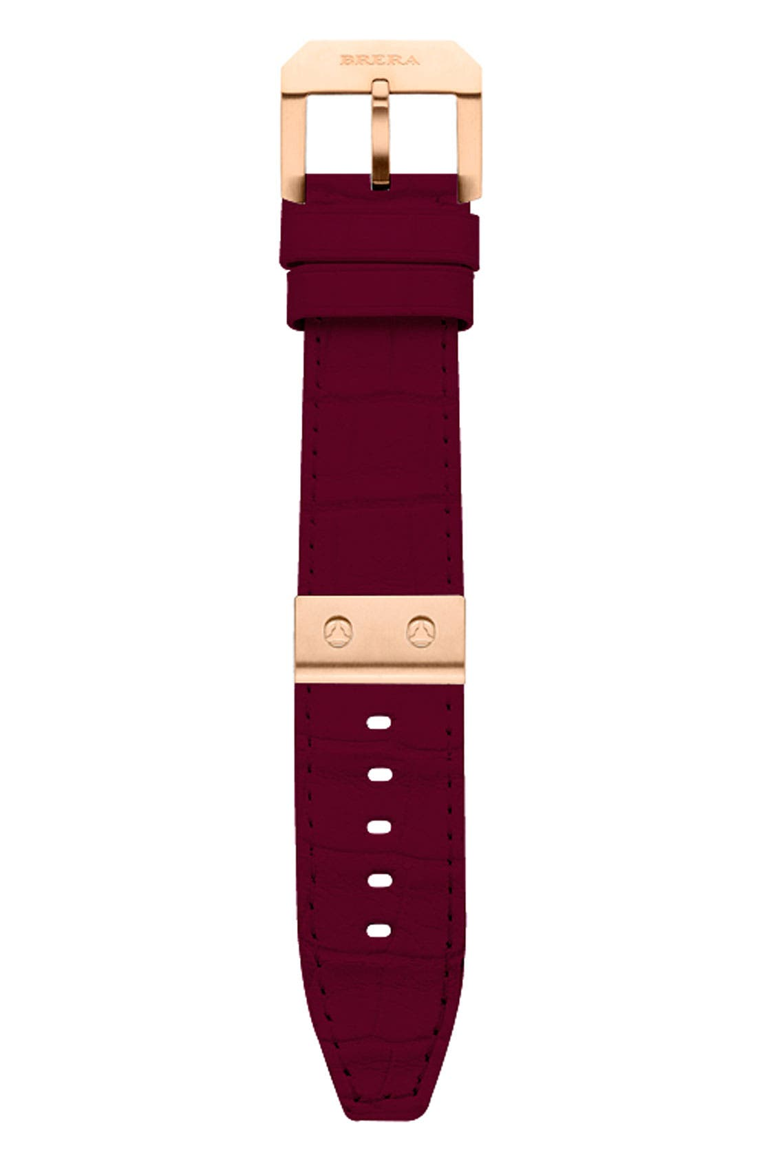 Alternate Image 1 Selected - Brera Orologi 22mm Alligator Watch Strap