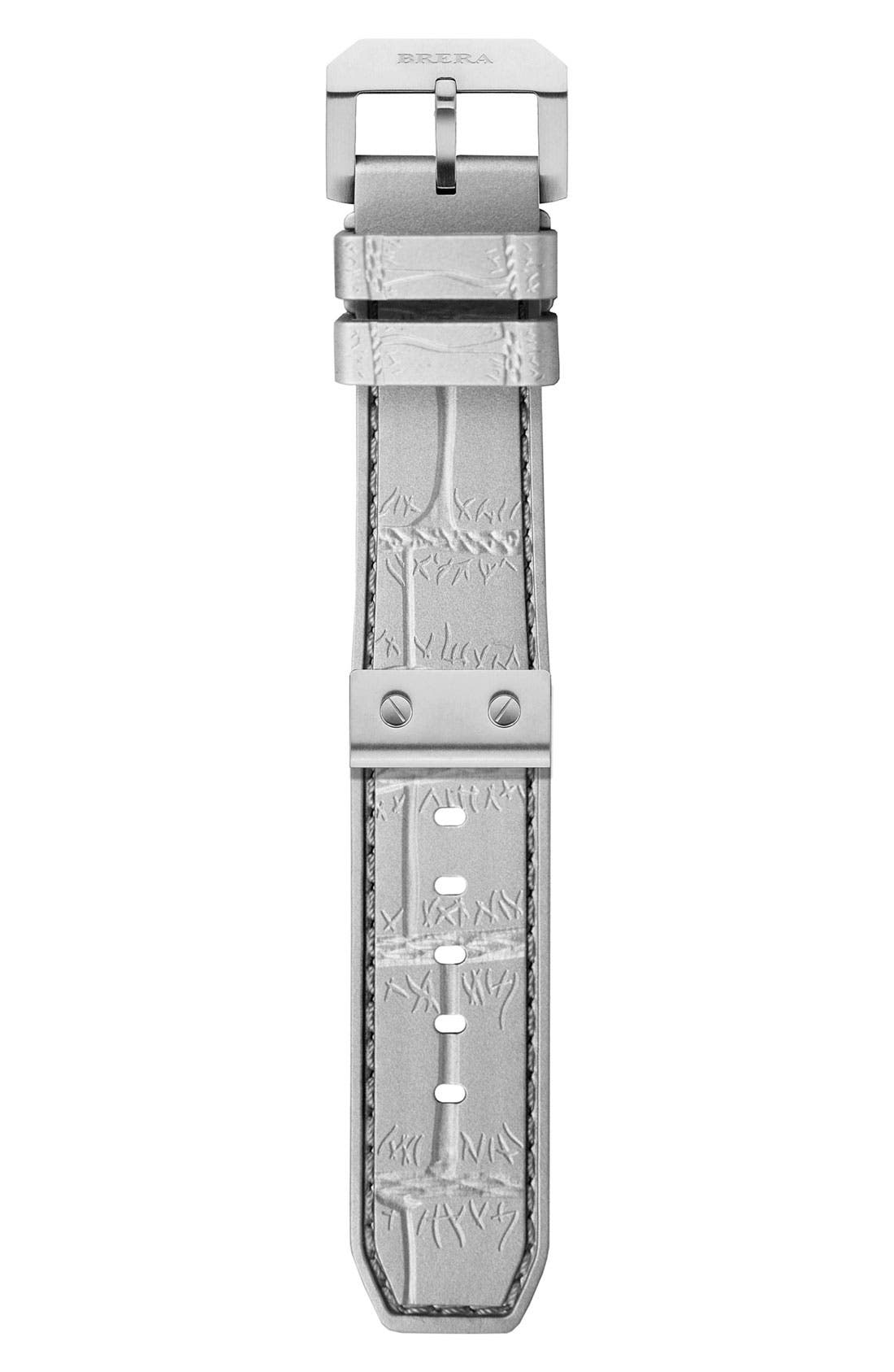 Main Image - 22MM CROC EMBOSSED SILICONE STRAP W/ SILVER