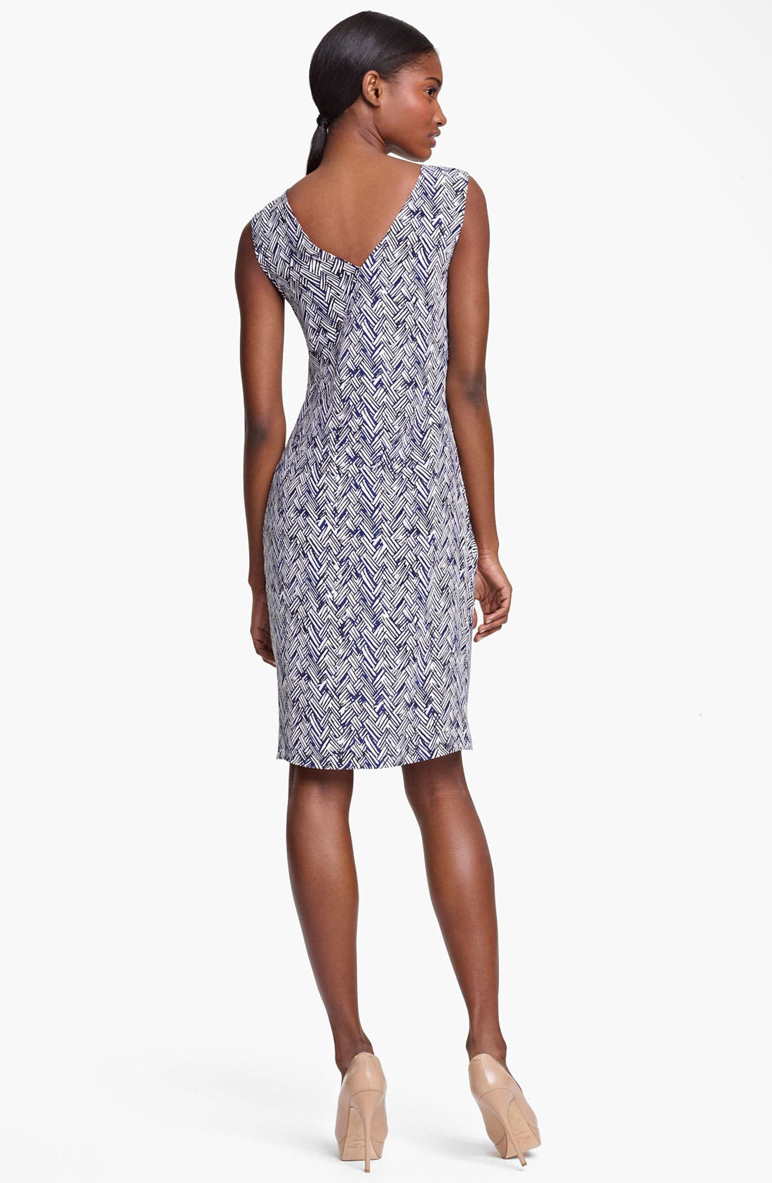 Alternate Image 2  - Thakoon Basket Weave Print Silk Dress
