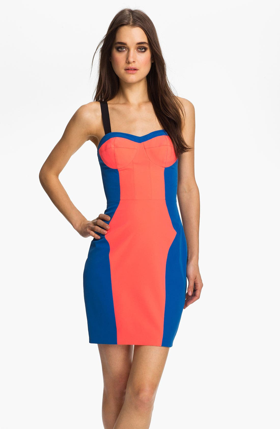 Alternate Image 1 Selected - Rebecca Minkoff 'Claudia' Colorblock Body-Con Dress