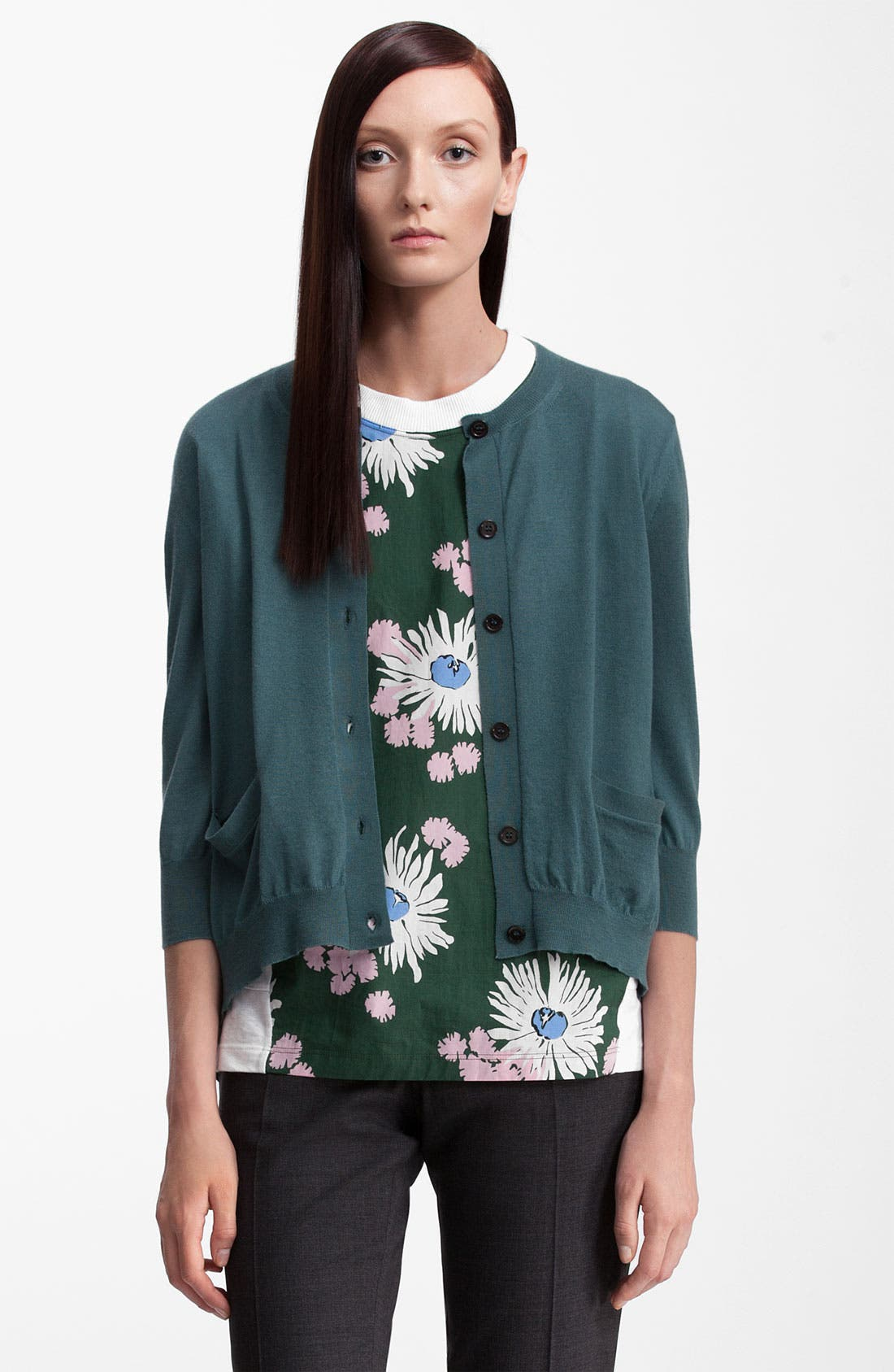 Alternate Image 1 Selected - Marni Pocket Cashmere & Silk Cardigan