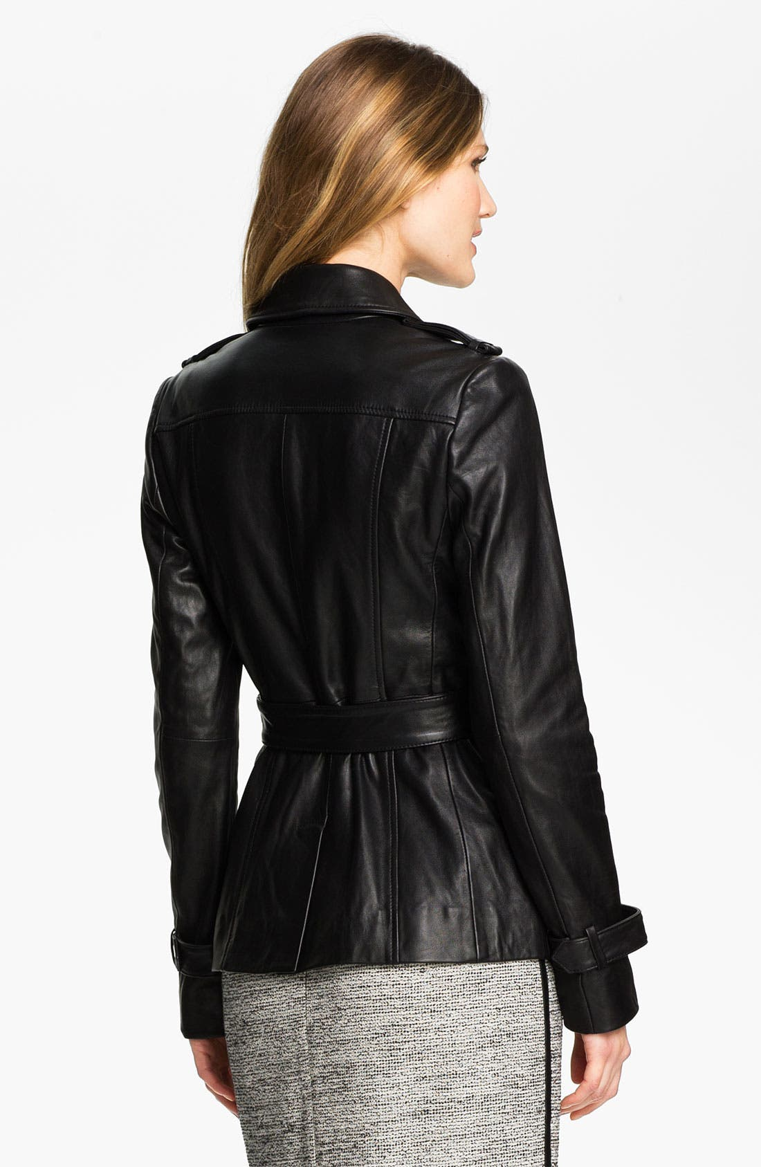 Alternate Image 2  - Classiques Entier® 'Brenna' Leather Trench Jacket