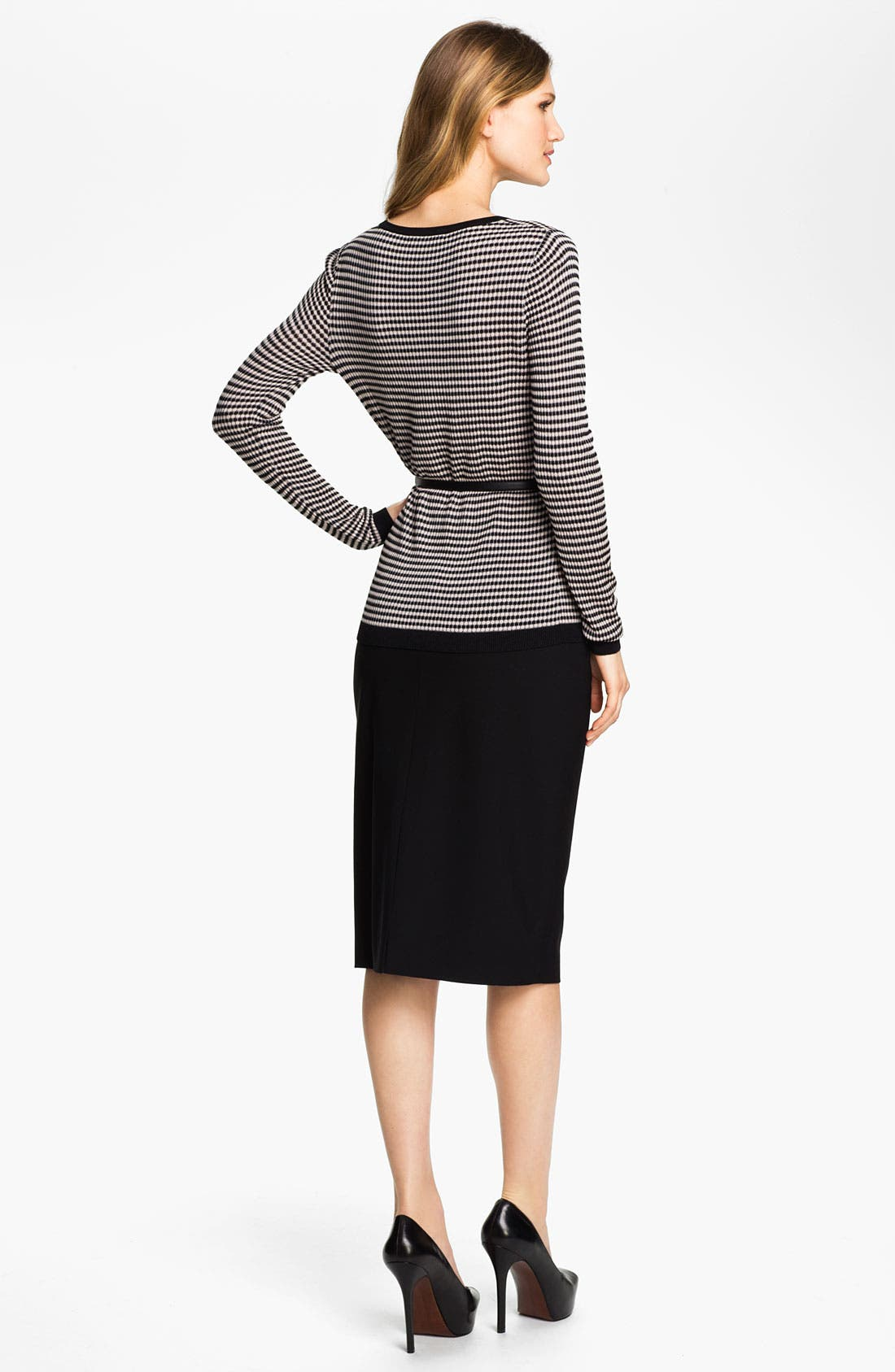 Alternate Image 5  - Classiques Entier® 'Tessa' Belted Jacquard Sweater