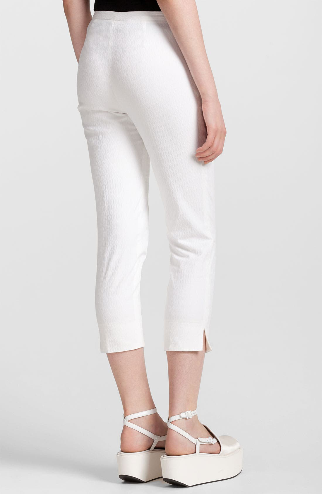Alternate Image 2  - Jil Sander Navy Skinny Stretch Jacquard Crop Pants
