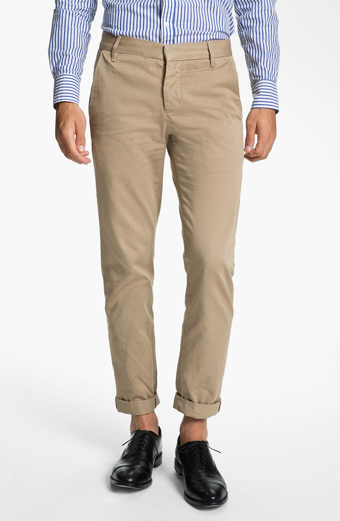 Alternate Image 1 Selected - Band of Outsiders Slim Fit Twill Cotton Chinos
