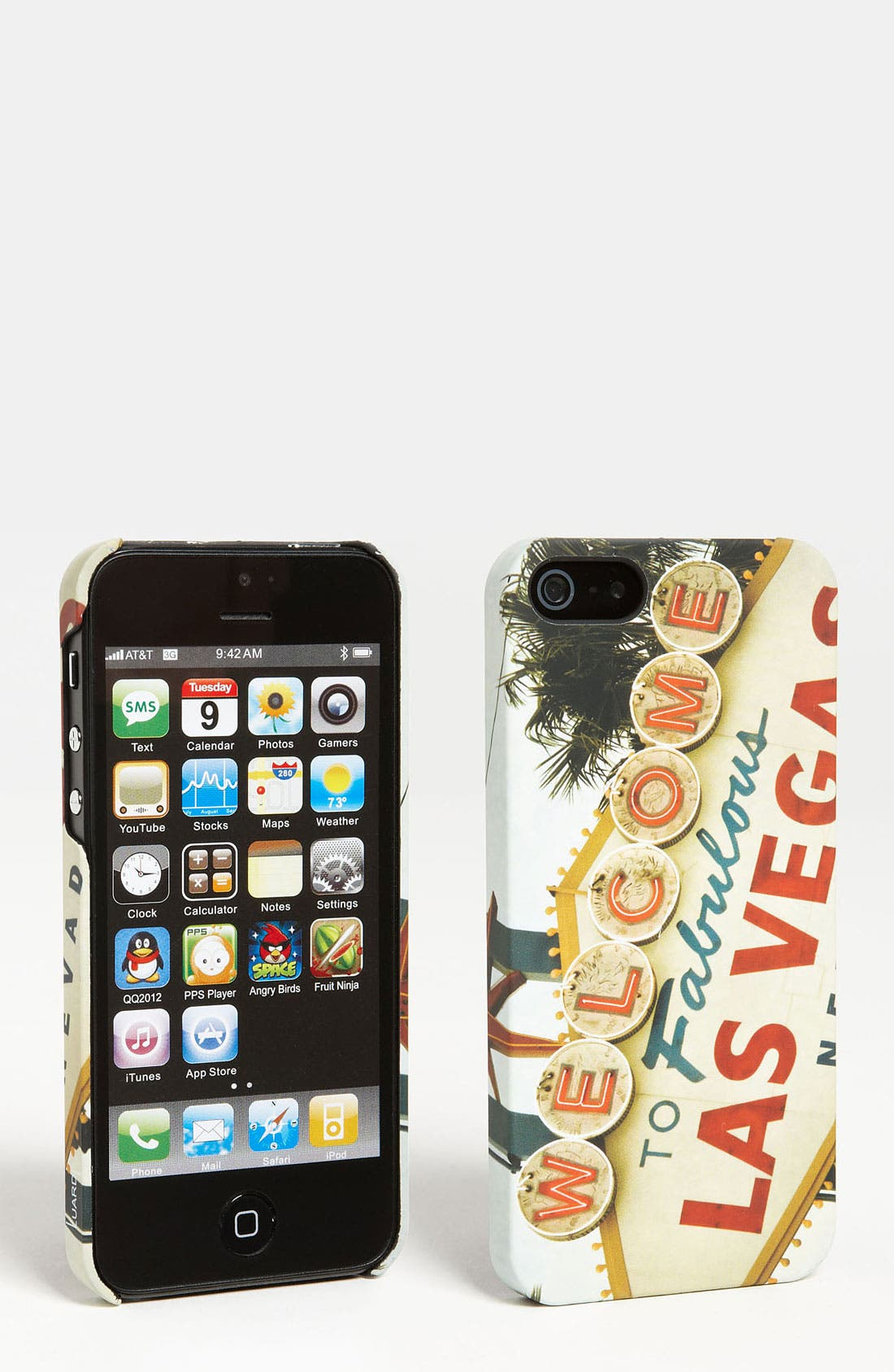 'Welcome Vegas' Snap-On iPhone 5 Case,                         Main,                         color, Red White