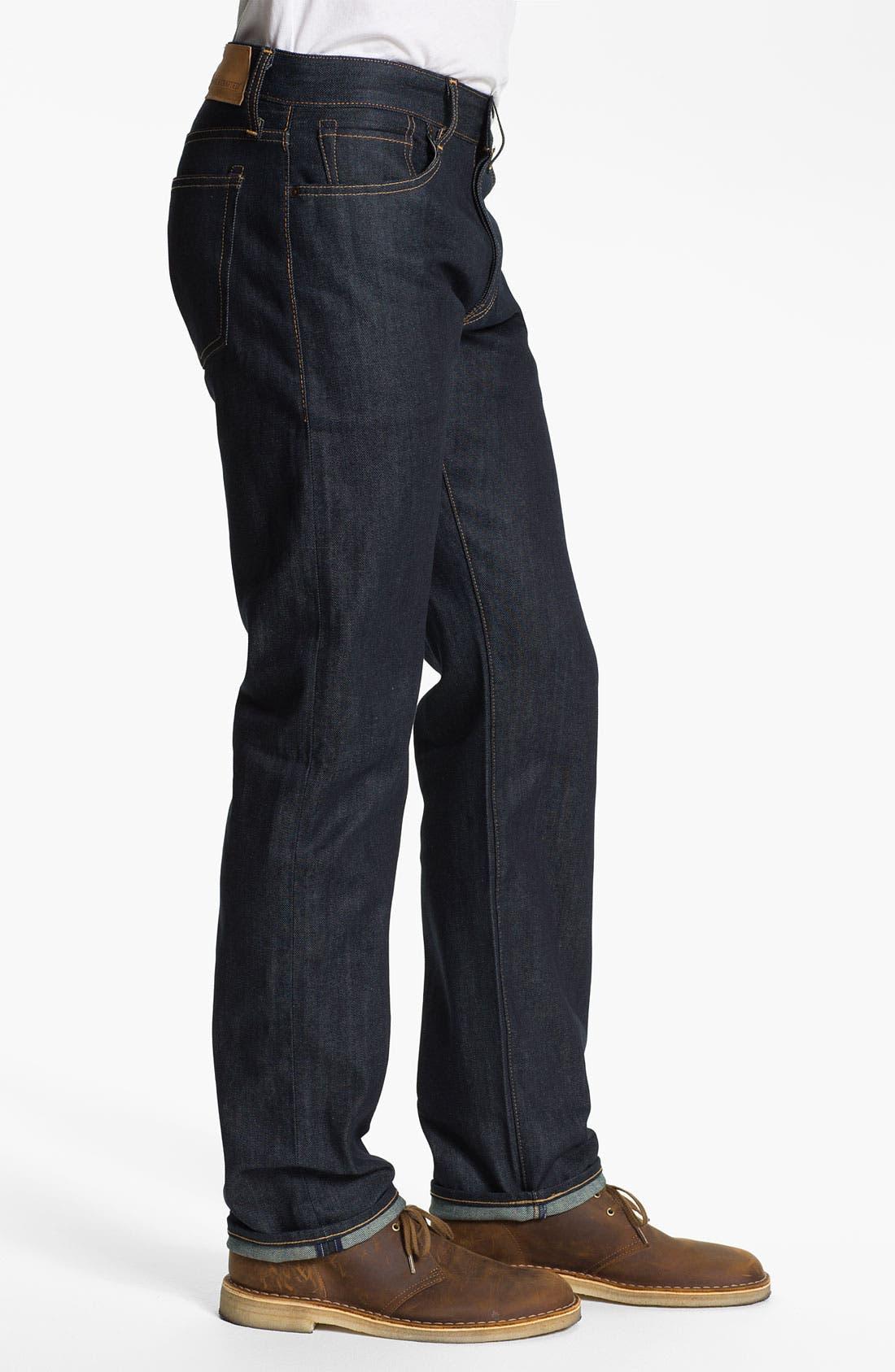 Alternate Image 3  - Levi's® Made & Crafted™ 'Ruler' Straight Leg Jeans (Indigo Rigid)
