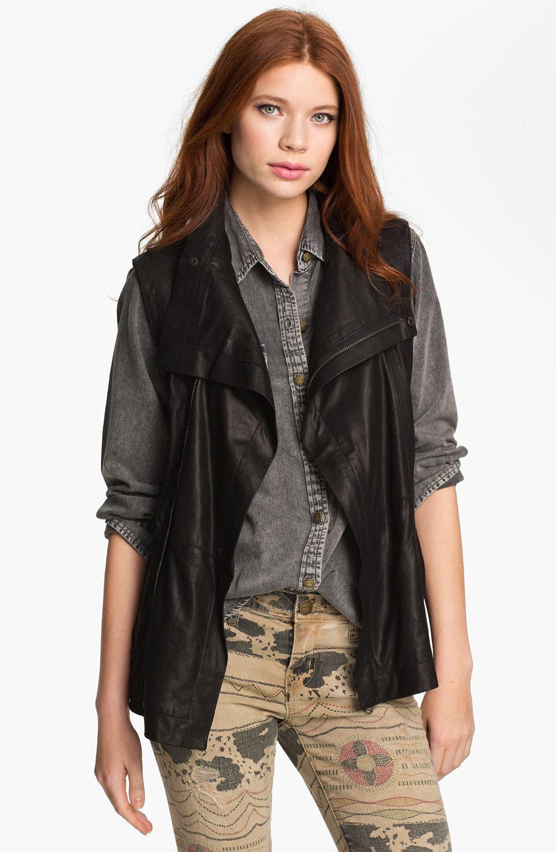Alternate Image 1 Selected - Kenna-T Leather Vest