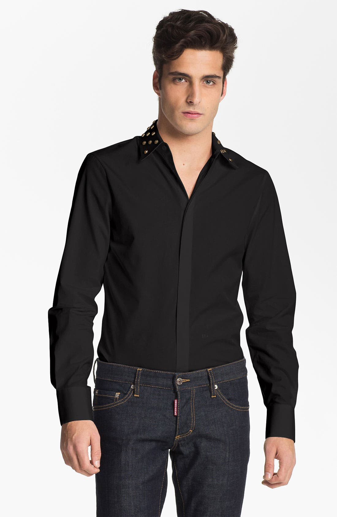 Alternate Image 1 Selected - Dsquared2 Stud Collar Dress Shirt