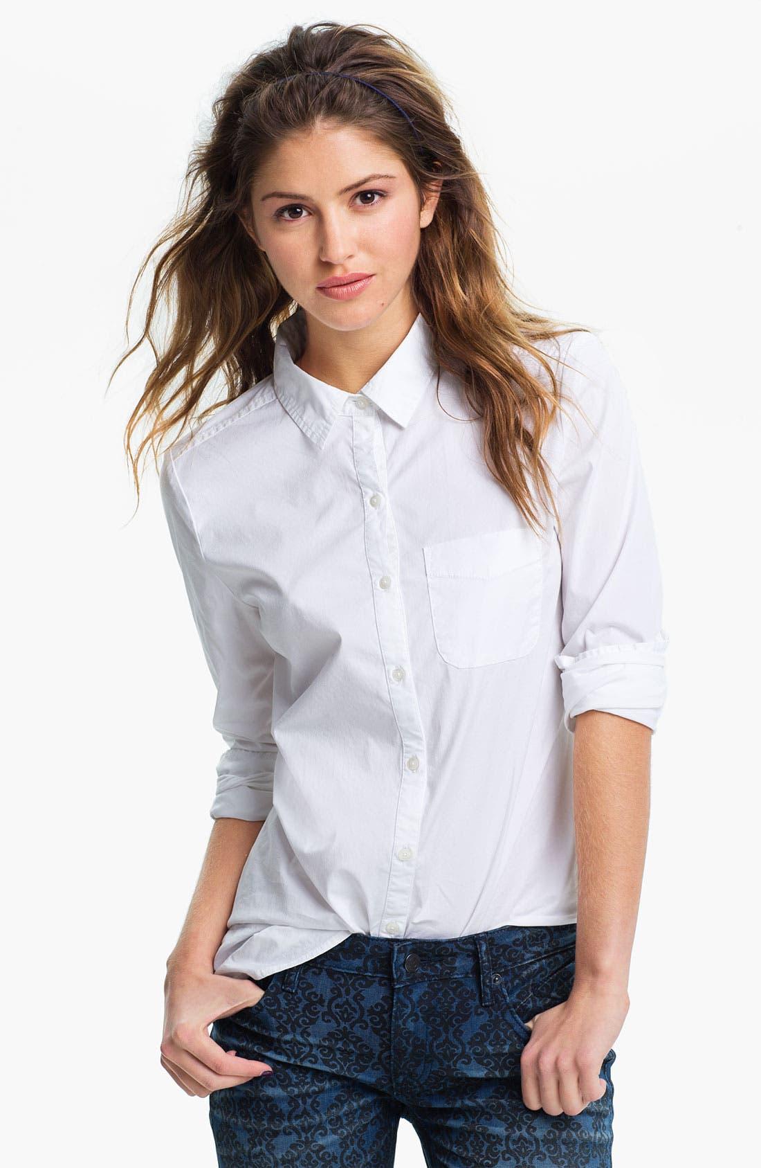 Alternate Image 1 Selected - BP. Woven Button Front Shirt (Juniors)