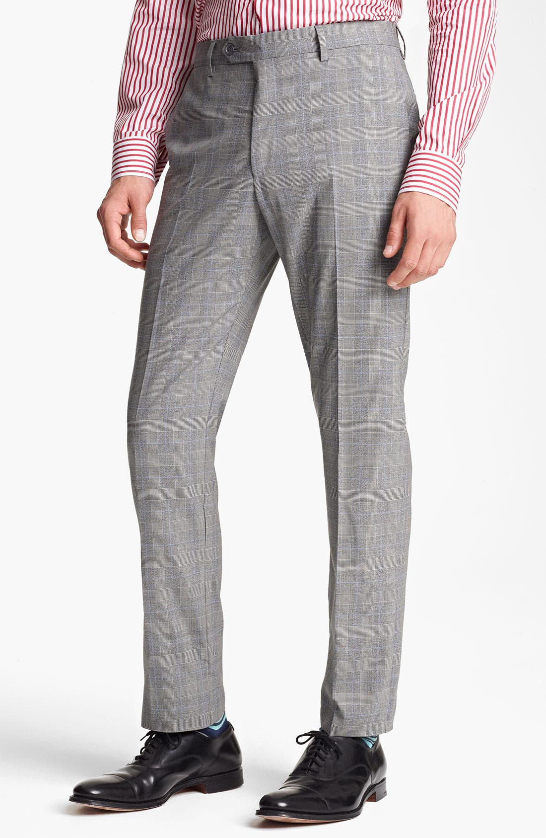 Alternate Image 4  - Paul Smith London Slim Fit Glen Plaid Wool Suit