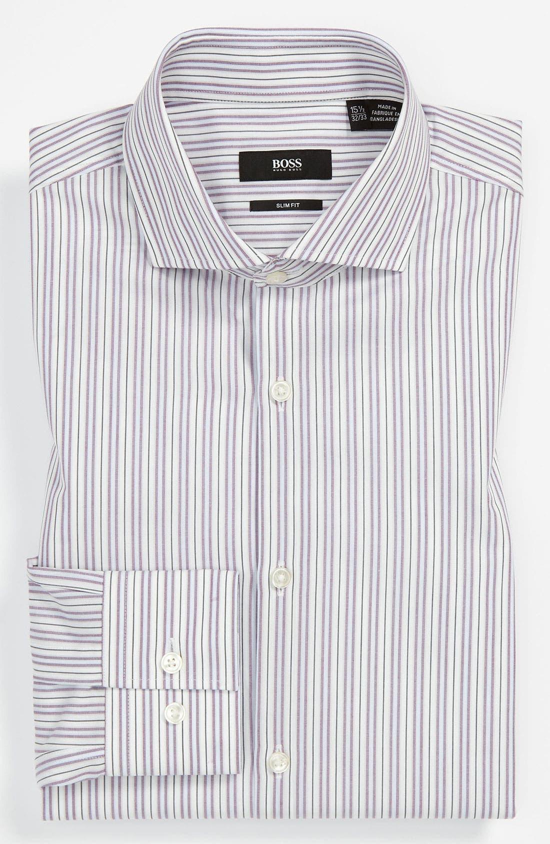 Alternate Image 1 Selected - BOSS Black Slim Fit Dress Shirt (Online Only)