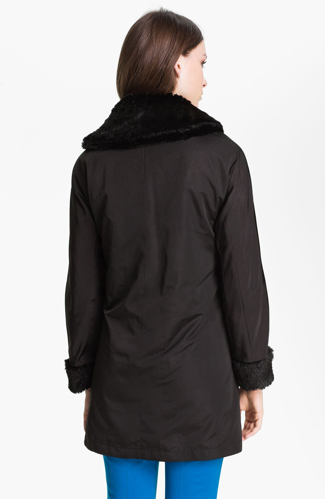 Alternate Image 3  - Ellen Tracy Reversible Faux Fur Storm Coat