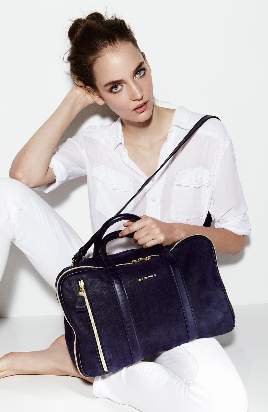 Alternate Image 2  - See by Chloé 'Harriet - 24 Hour' Leather Duffel