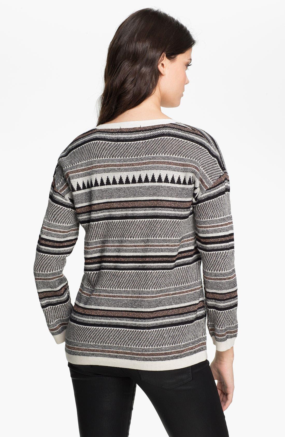 Alternate Image 2  - Maison Scotch Nordic Knit Sweater