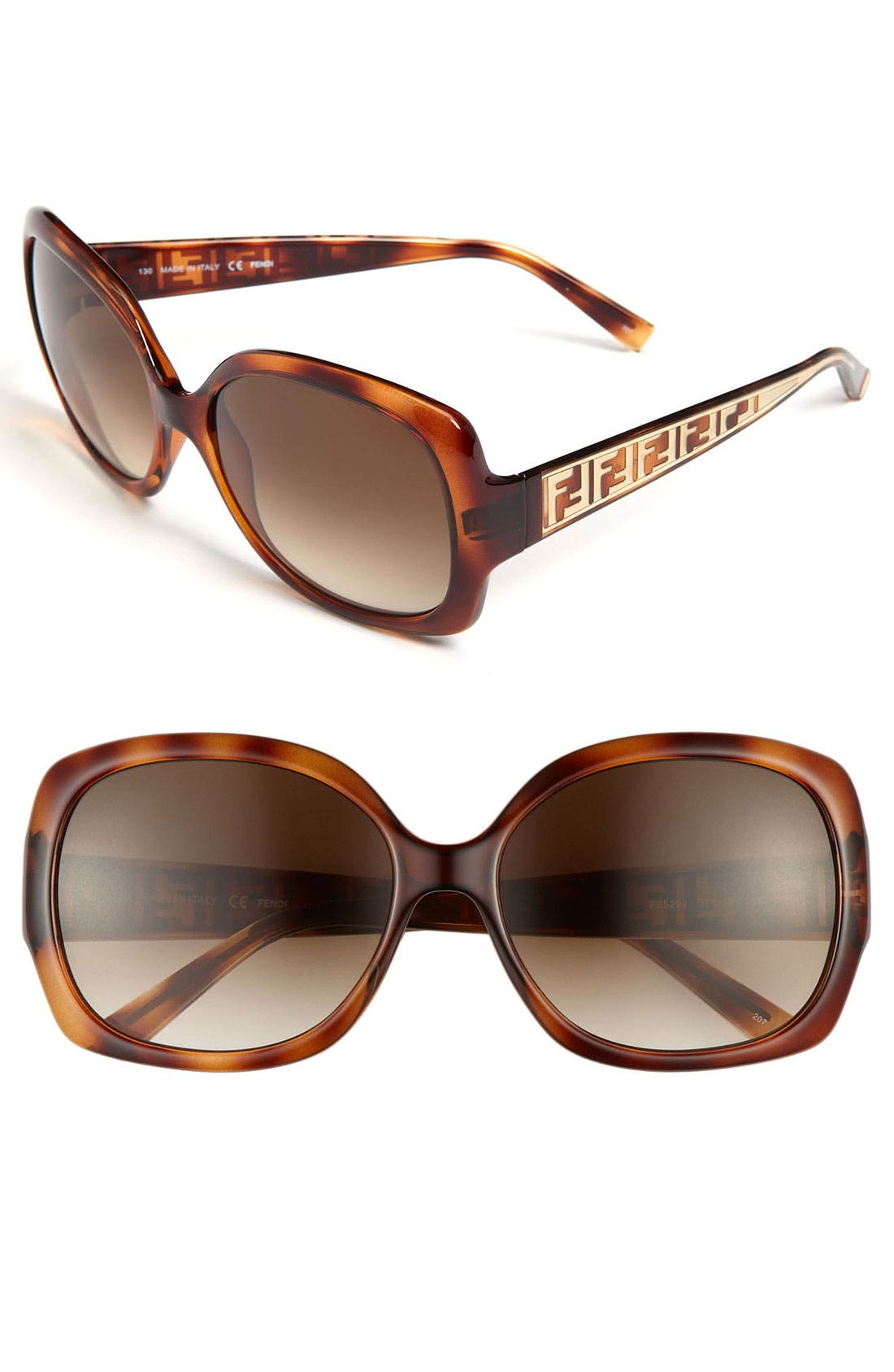 Alternate Image 1 Selected - Fendi 'Zucca' 57mm Sunglasses