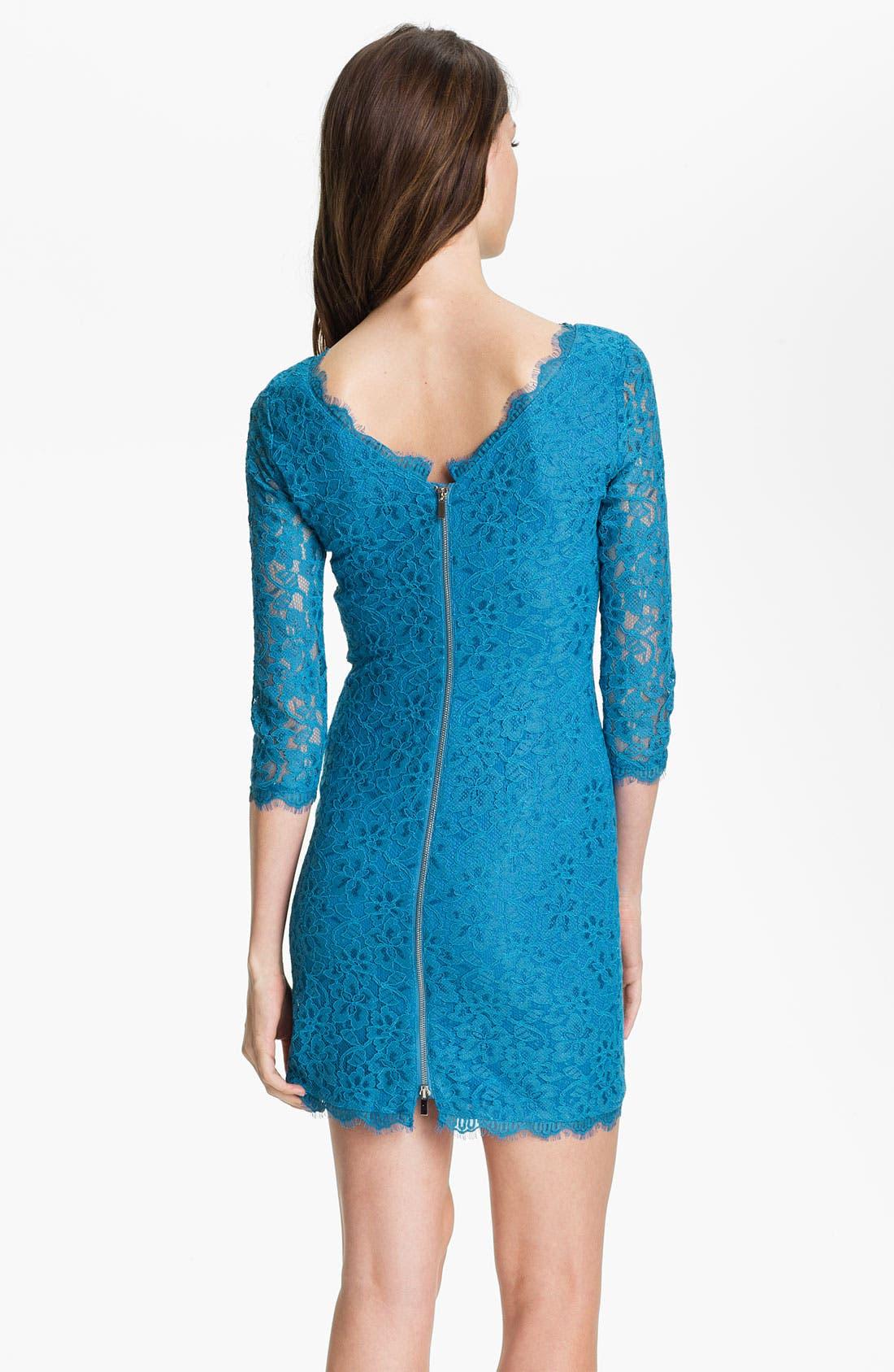 Alternate Image 2  - Diane von Furstenberg 'Zarita' Lace Dress