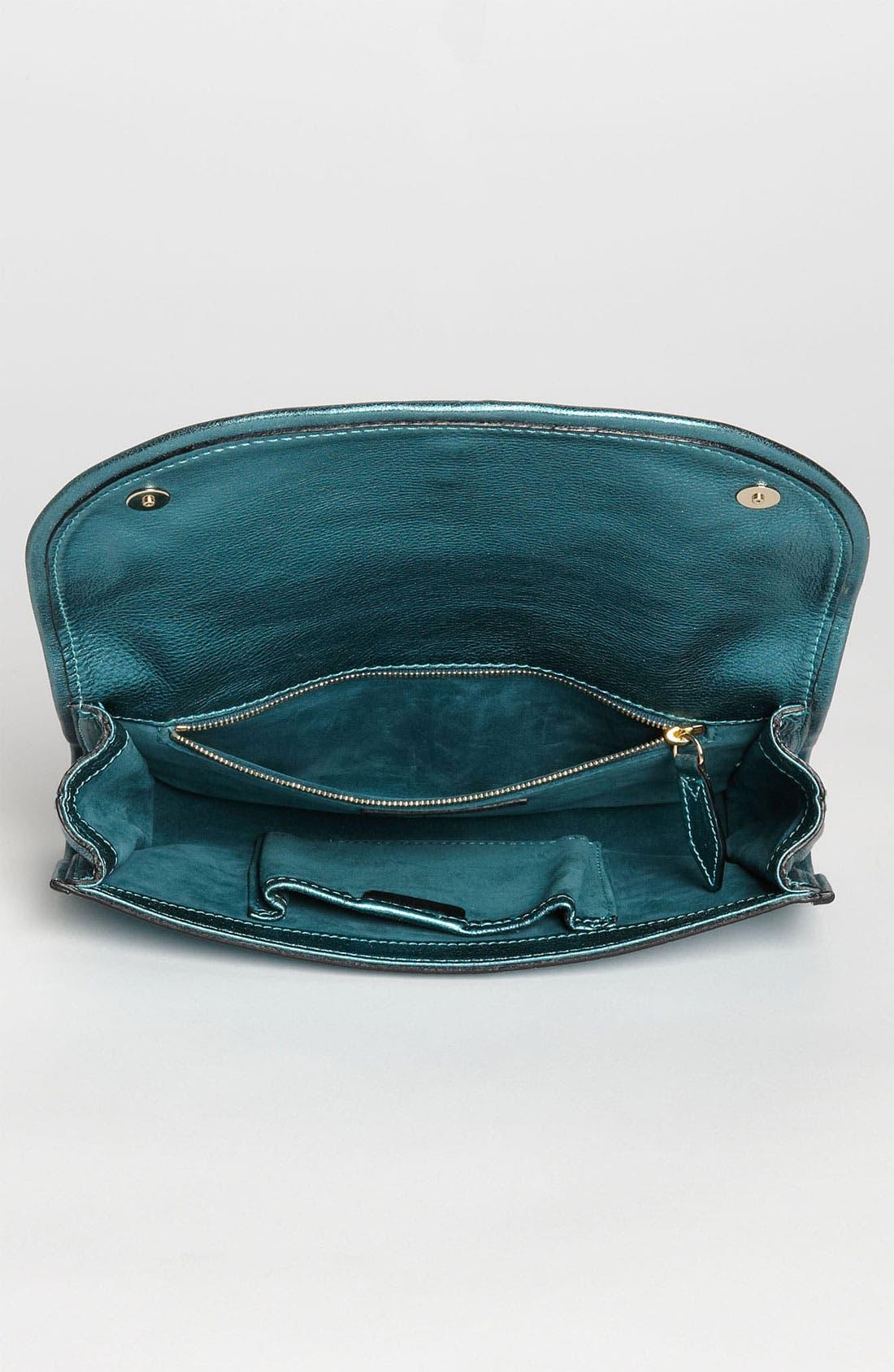 Alternate Image 3  - Burberry 'Soft Grainy Metallic' Leather Clutch