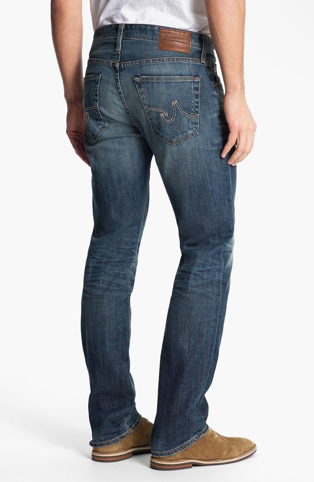Alternate Image 2  - AG Jeans 'Matchbox' Slim Straight Leg Jeans (12 Year Sand)