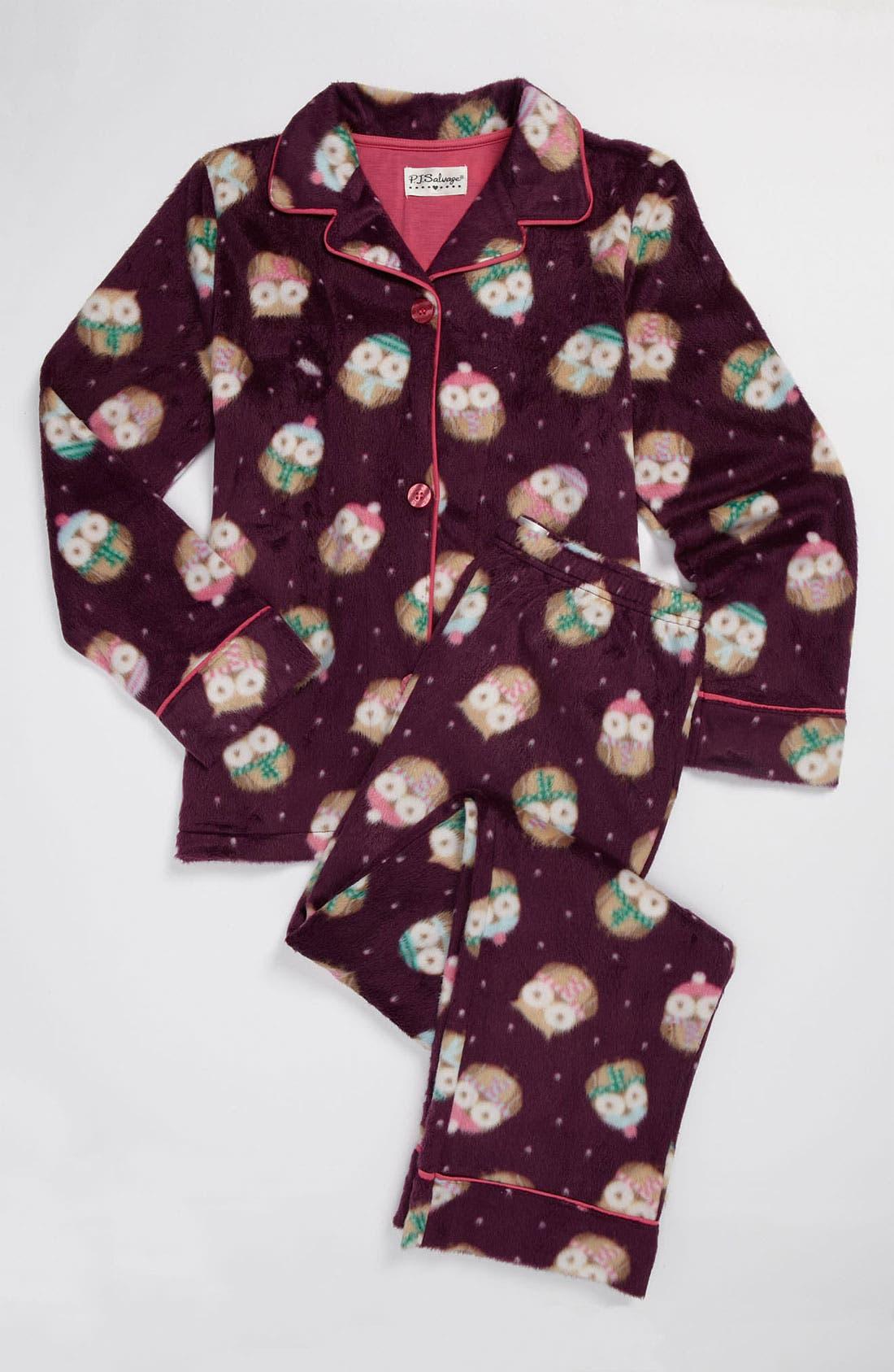 Main Image - PJ Salvage Plush Pajama Set (Little Girls & Big Girls)