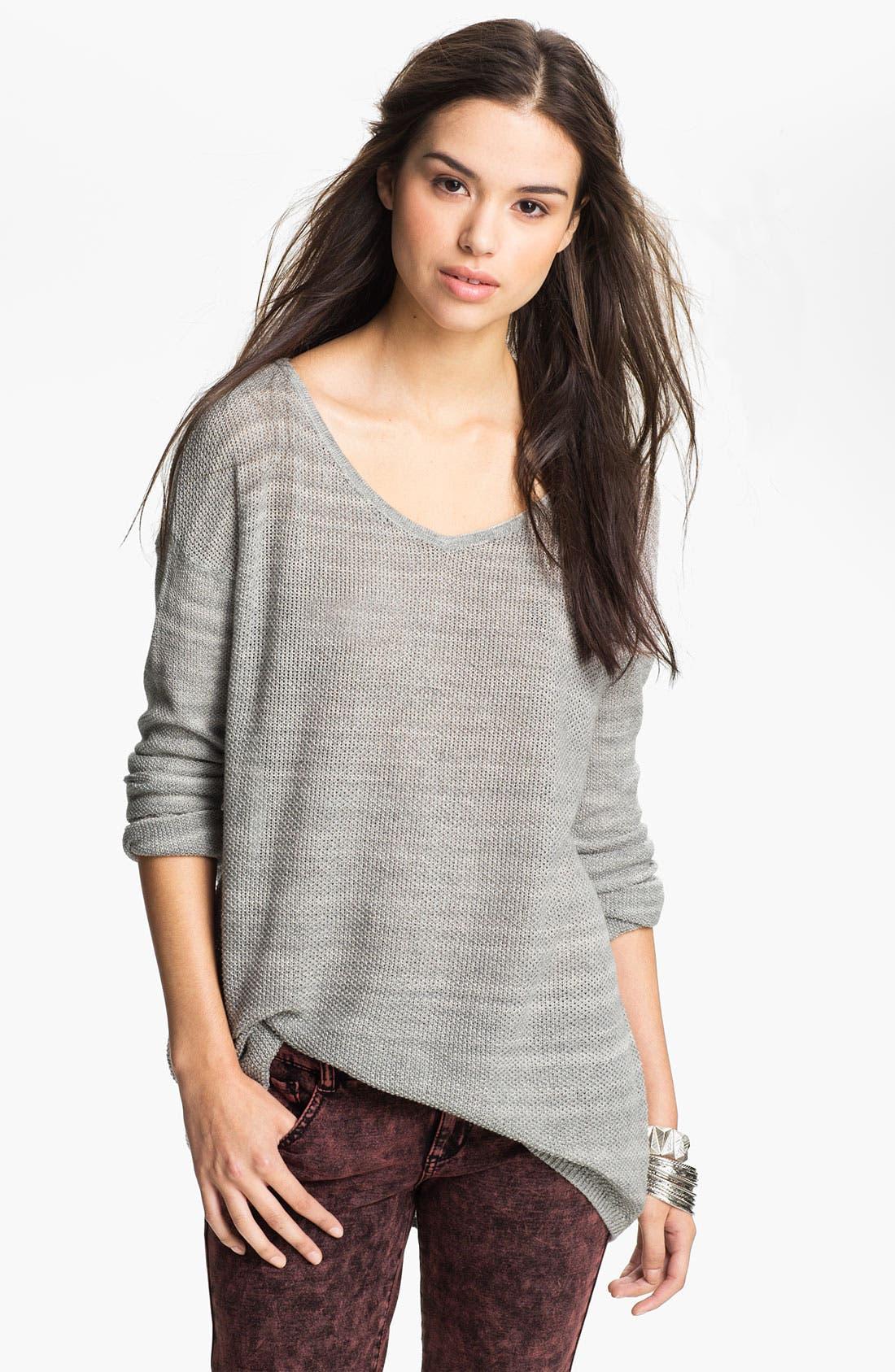 Main Image - Rubbish® Knit Oversized Sweater (Juniors)