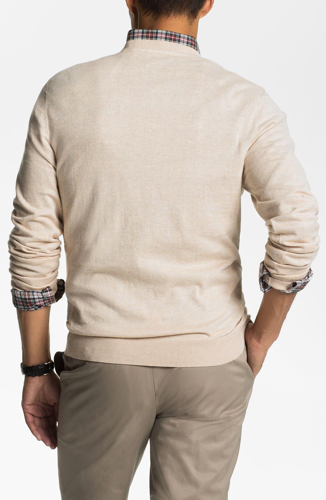 Alternate Image 2  - Wallin & Bros. Pima Cotton Blend Sweater