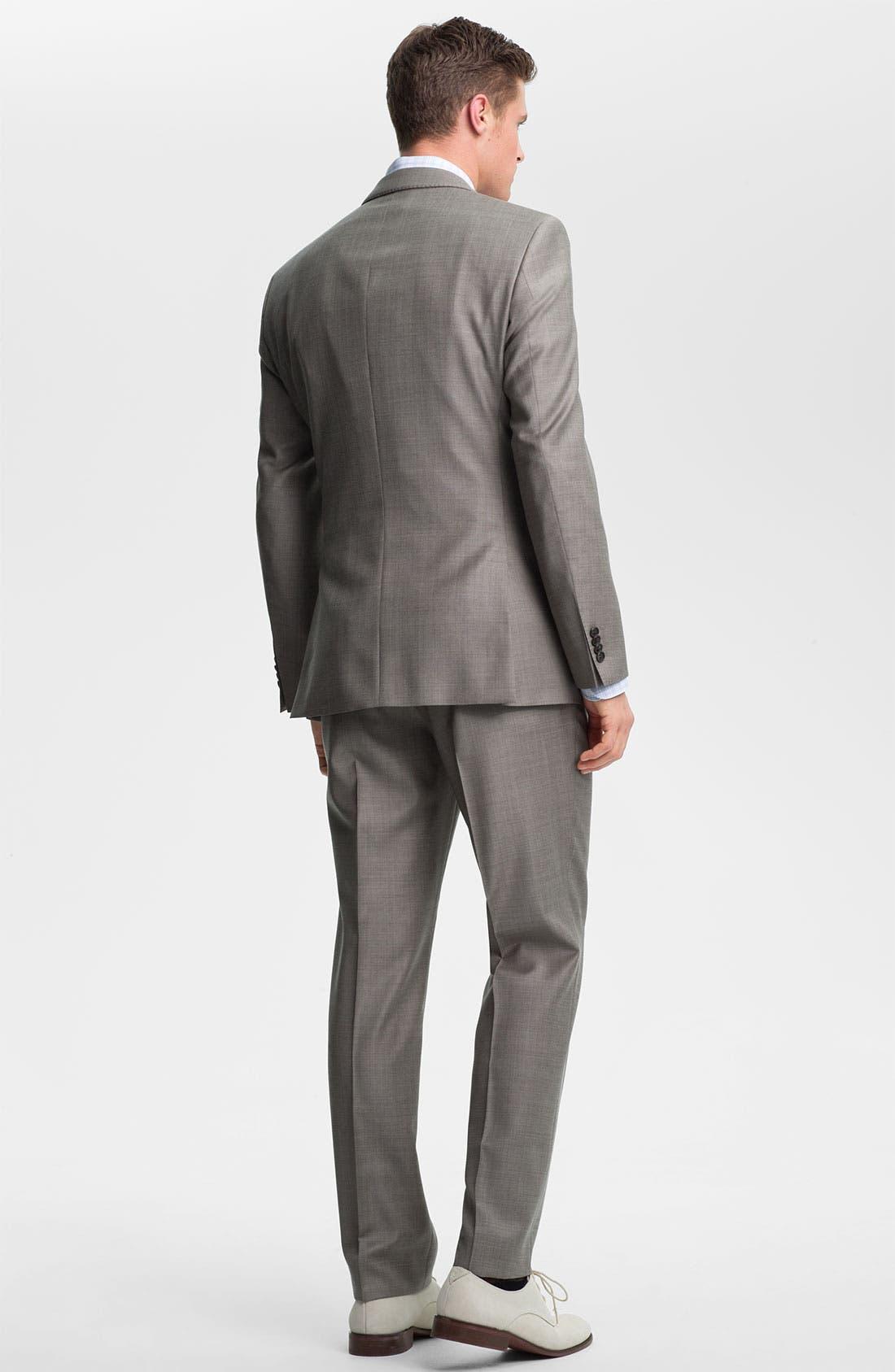 Alternate Image 2  - BOSS HUGO BOSS 'James/Sharp' Trim Fit Wool Suit