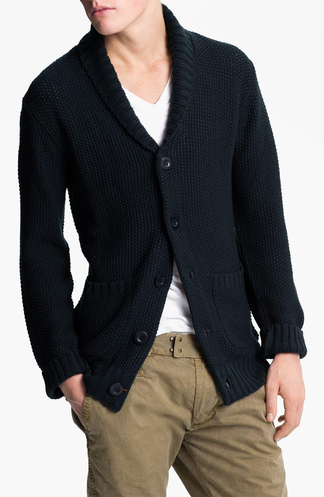 Main Image - Obey 'Carver' Shawl Collar Cardigan