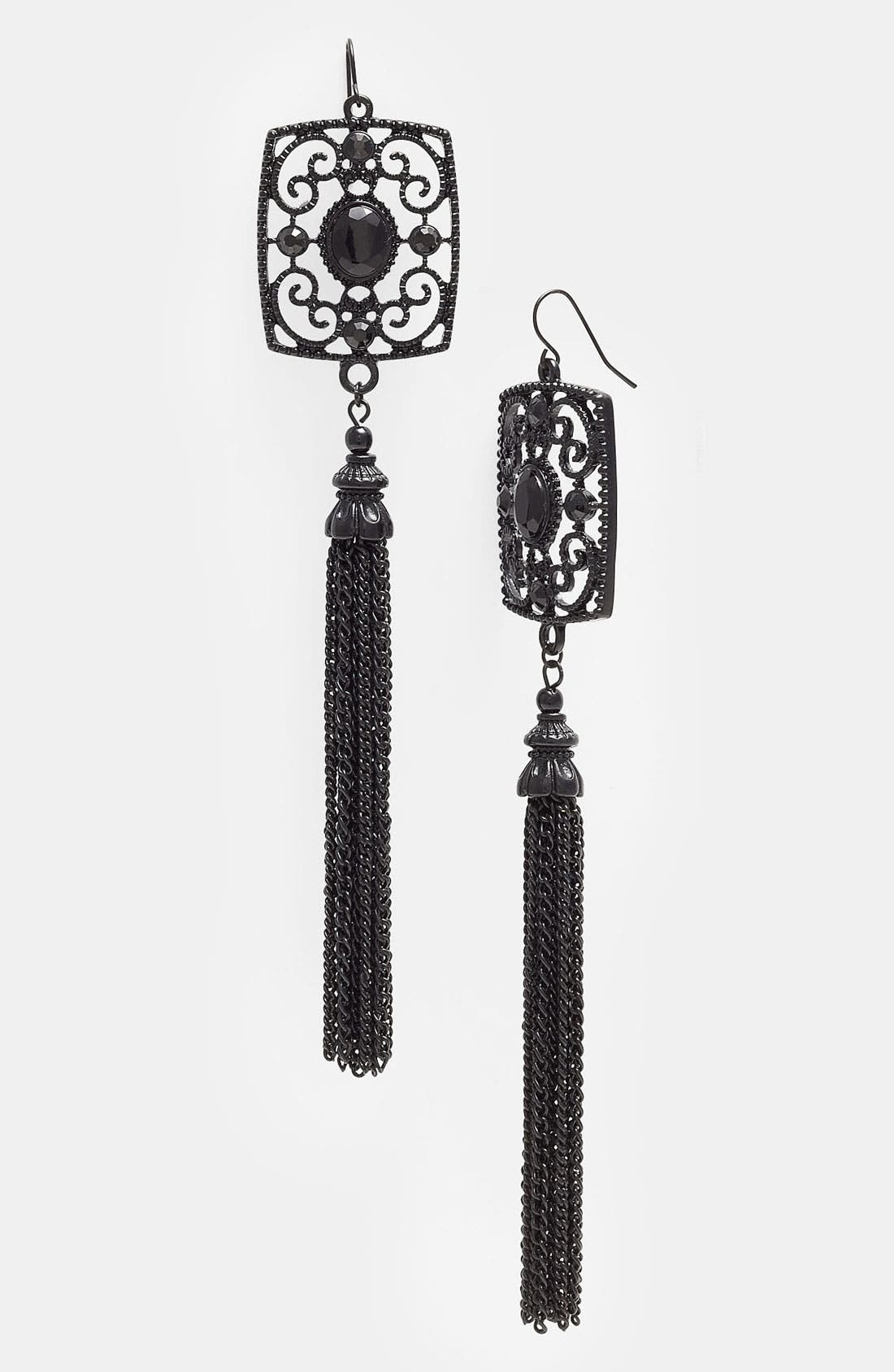 Alternate Image 1 Selected - Spring Street Long Tassel Earrings