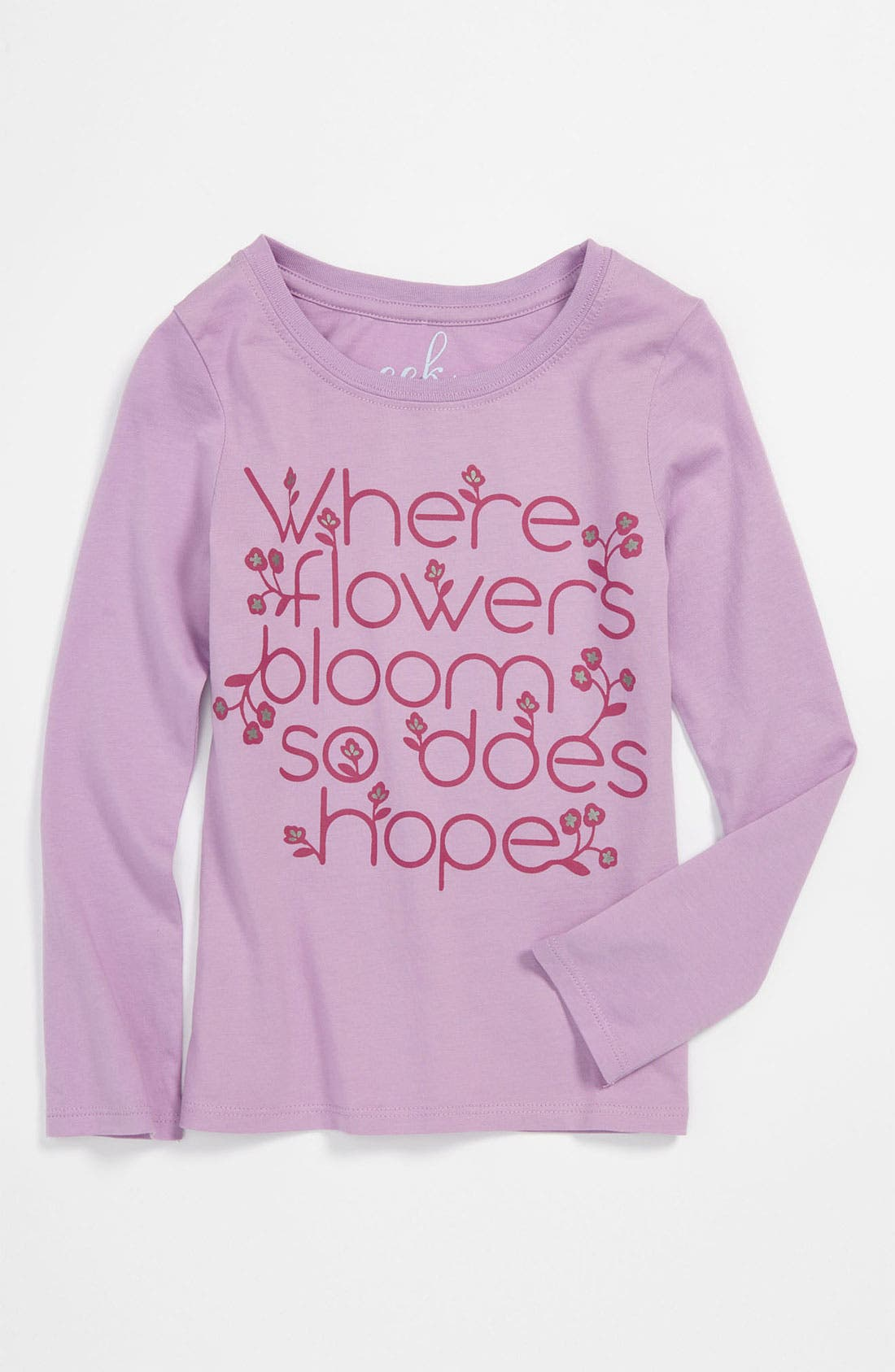 Alternate Image 1 Selected - Peek 'Hope' Tee (Toddler, Little Girls & Big Girls)