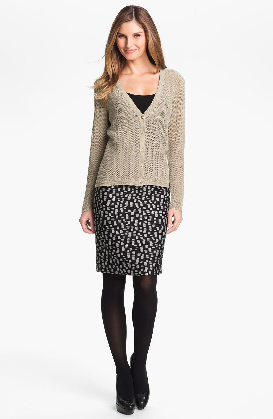 Alternate Image 4  - Classiques Entier® 'Campania' Jacquard Skirt