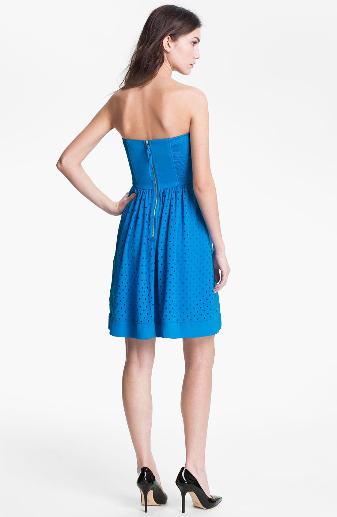 Alternate Image 2  - Rebecca Taylor Cutout Fit & Flare Dress