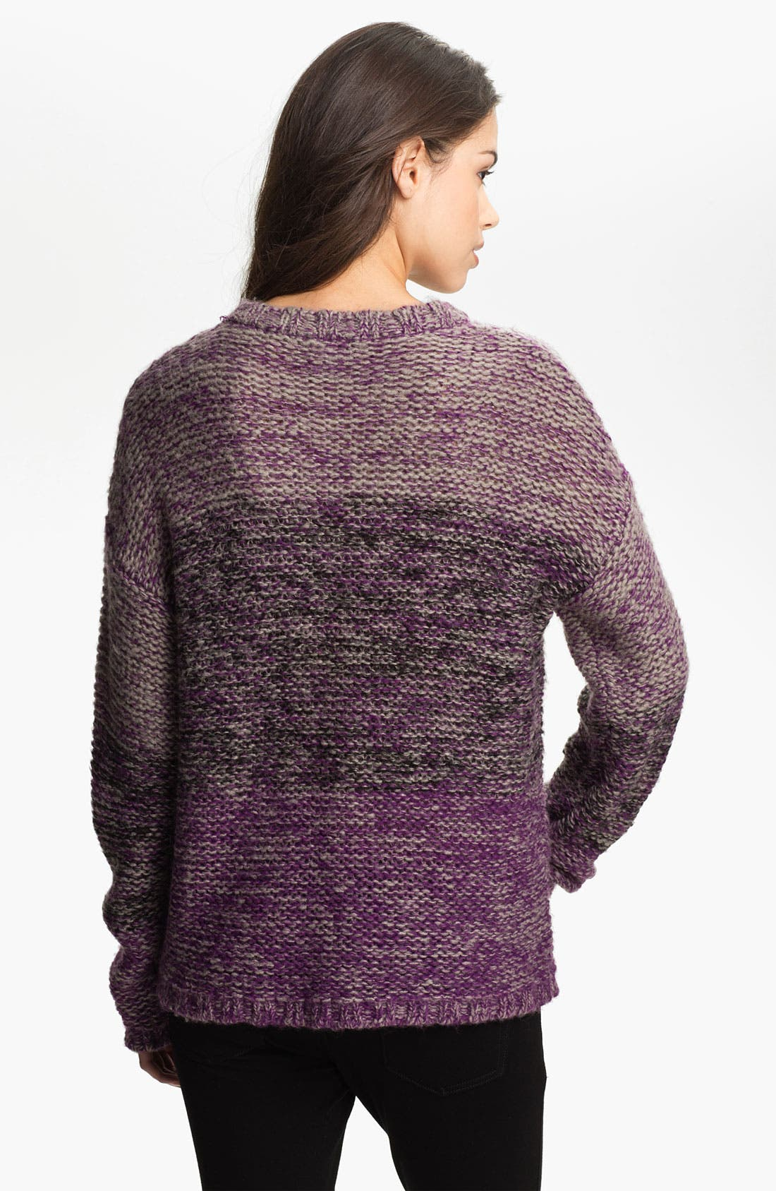 Alternate Image 2  - Twisted Angel Slouchy Mélange Stripe Sweater (Juniors)