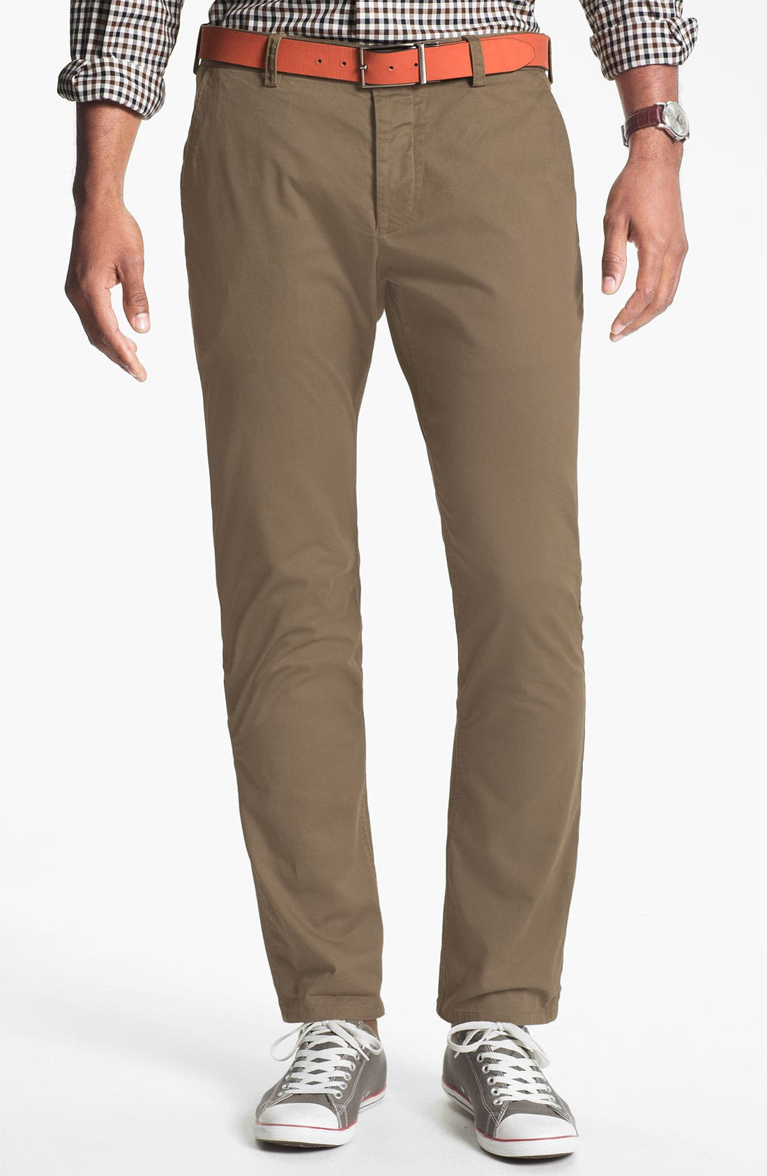 Alternate Image 1 Selected - French Connection 'Machine Gun' Flat Front Pants (Online Only)