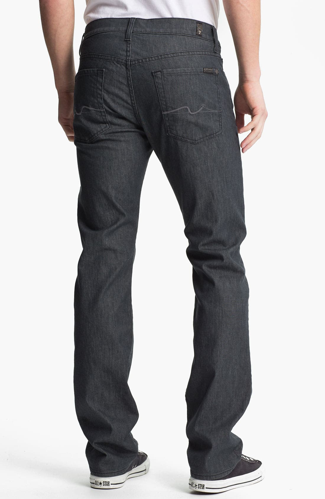 Alternate Image 2  - 7 For All Mankind® 'Standard' Straight Leg Jeans (Clean Grey)