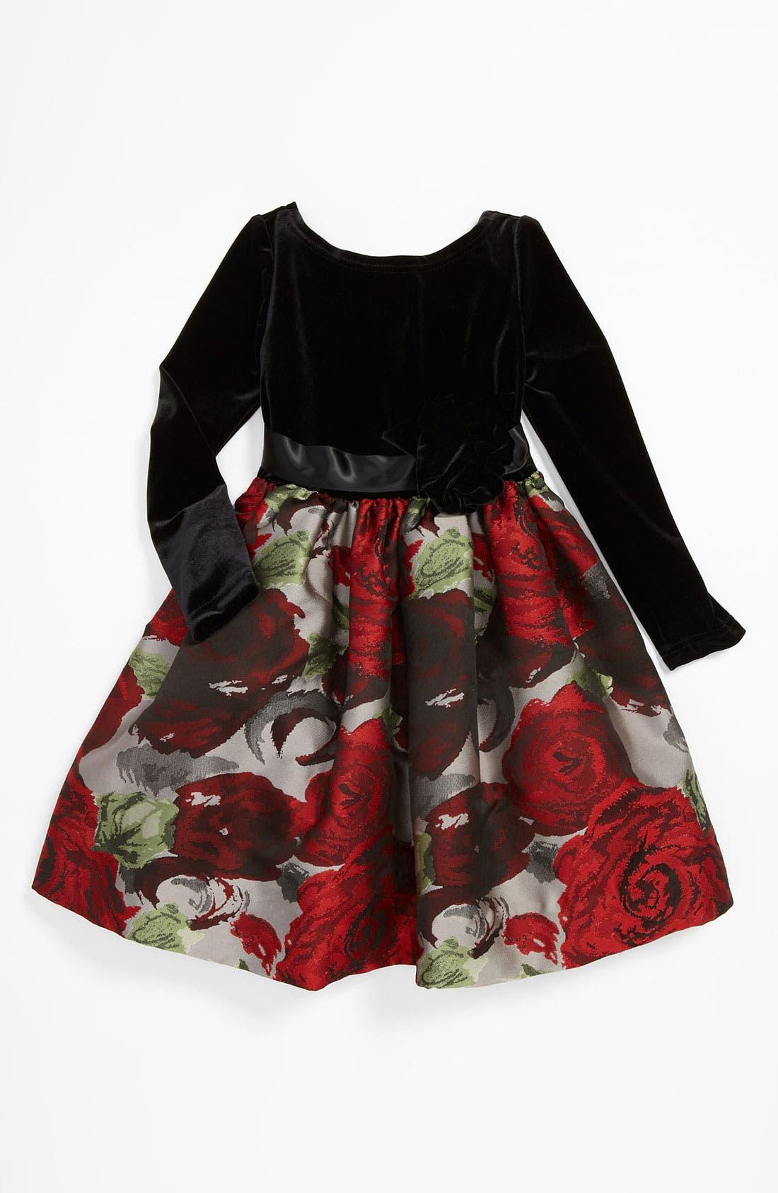 Main Image - Us Angels Brocade Dress (Little Girls & Big Girls)