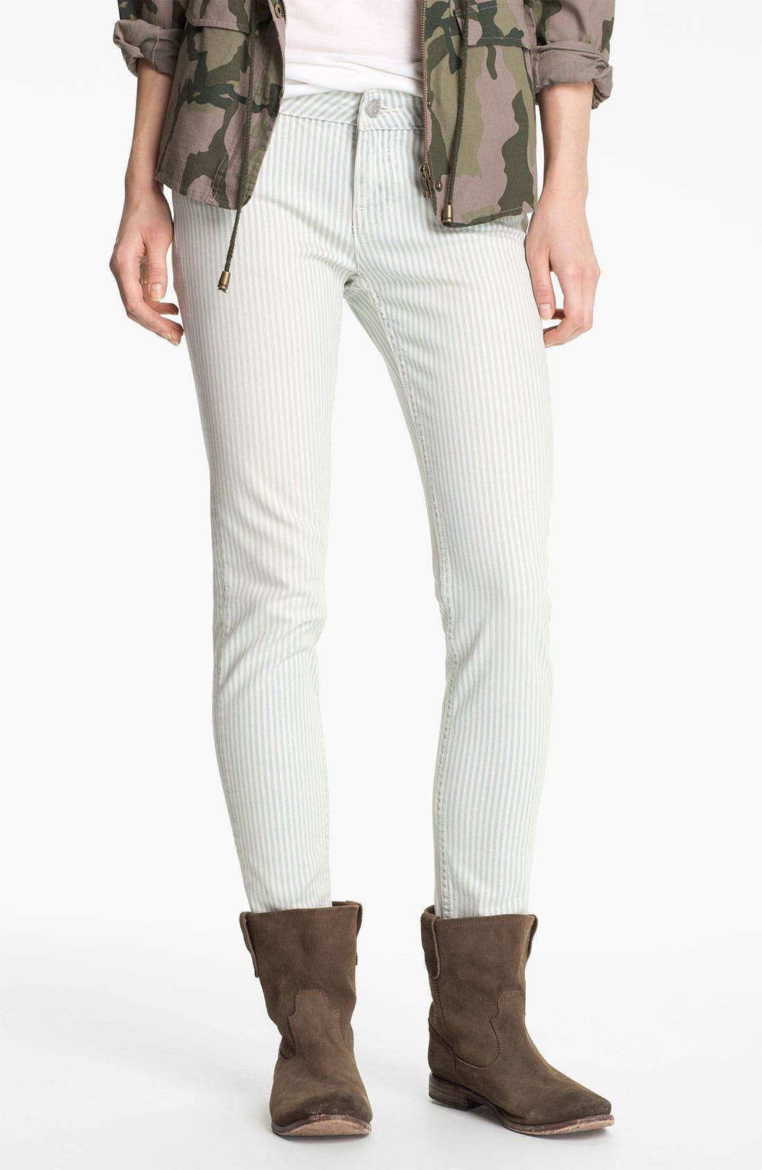 Alternate Image 2  - Vigoss Stripe Skinny Jeans (Juniors)