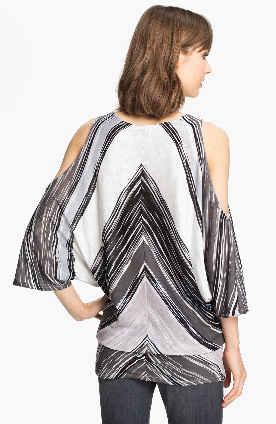 Alternate Image 2  - Ella Moss Stripe Cutout Shoulder Top