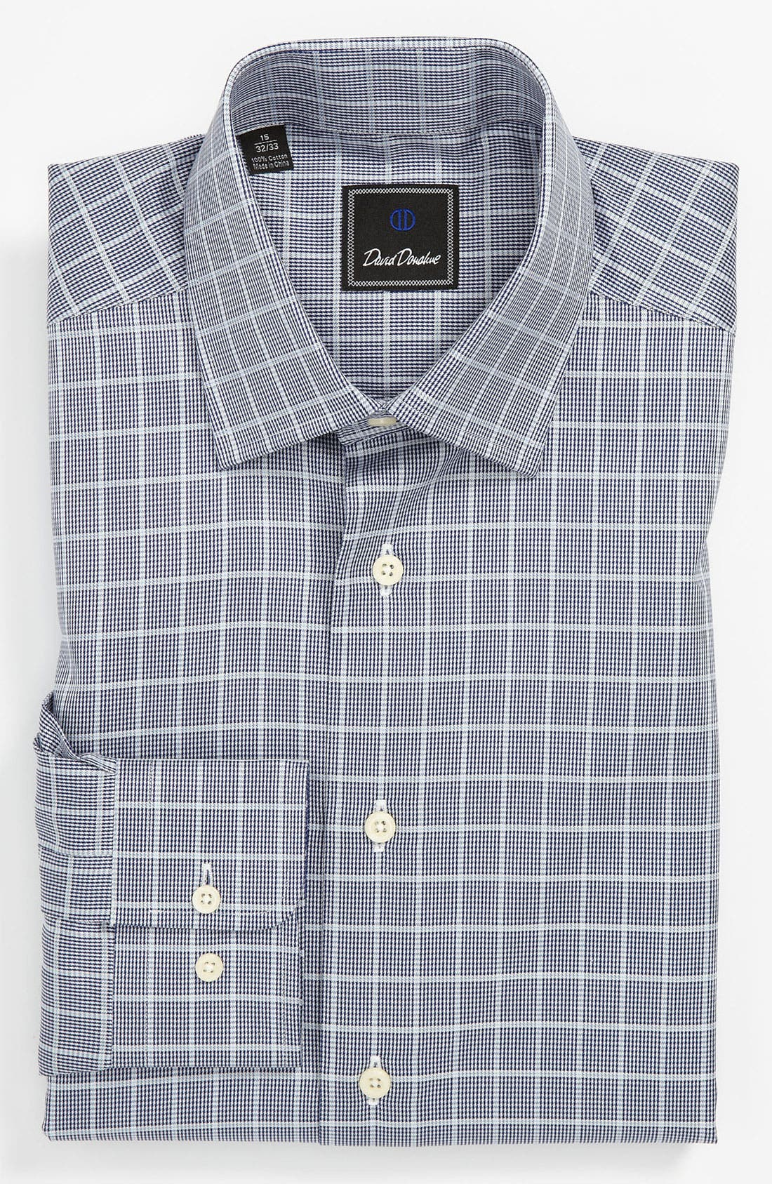 Main Image - David Donahue Regular Fit Dress Shirt (Online Exclusive)