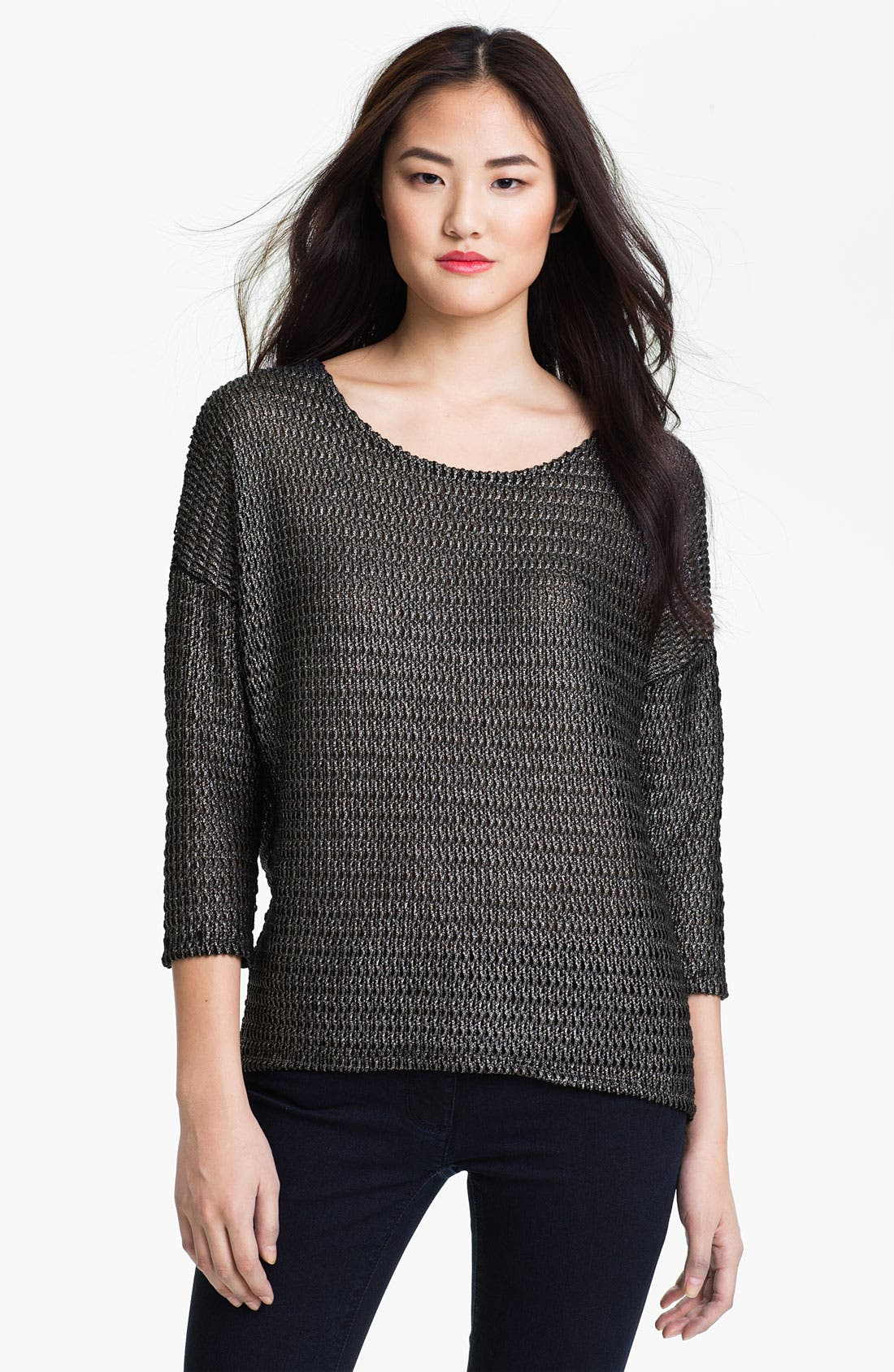Alternate Image 1 Selected - Two by Vince Camuto Metallic Knit Sweater