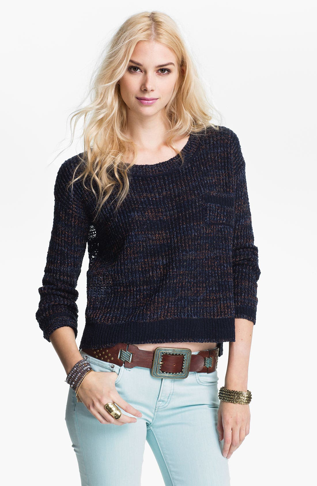 Main Image - Free People 'Sweet Jane' Lace Back Sweater