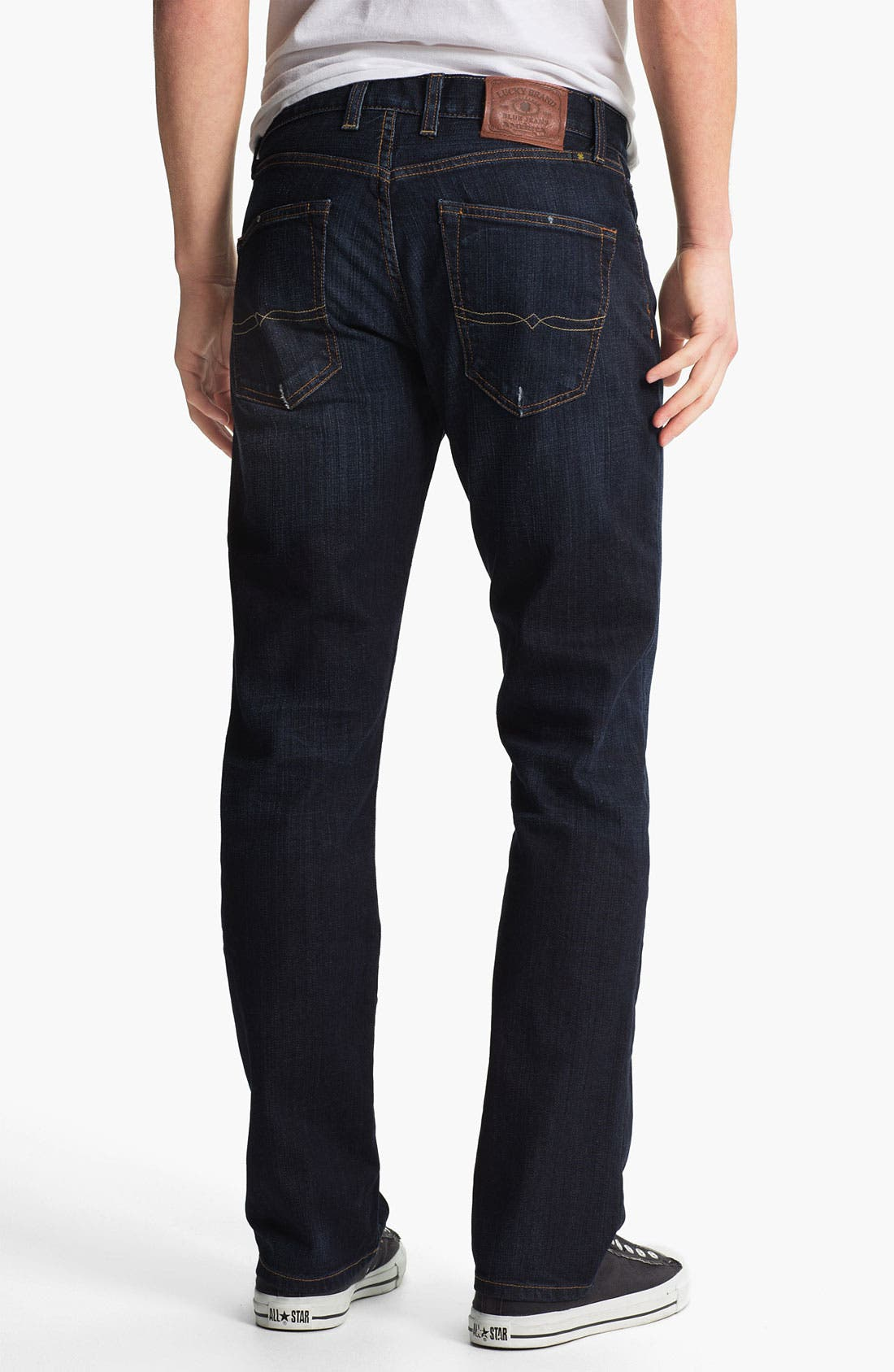 Alternate Image 2  - Lucky Brand '221 Original' Straight Leg Jeans (Dark Kenfield)